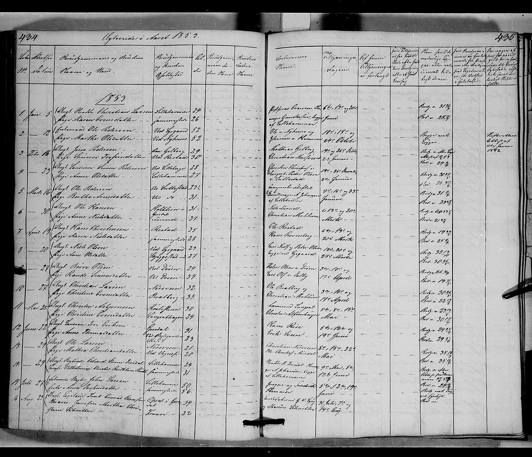 SAH, Fåberg prestekontor, Klokkerbok nr. 6, 1837-1855, s. 434-435