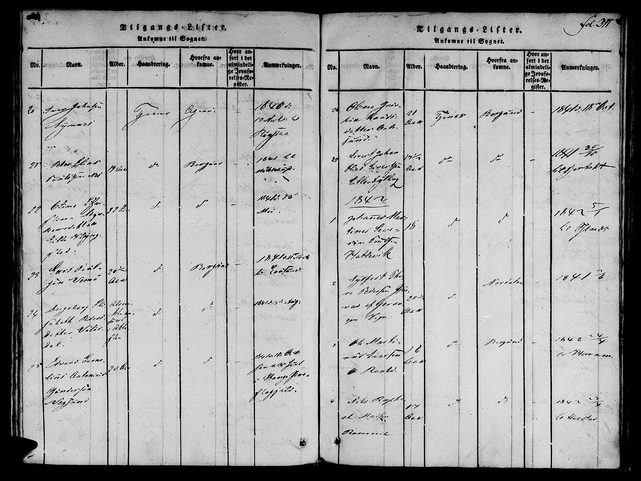 SAT, Ministerialprotokoller, klokkerbøker og fødselsregistre - Møre og Romsdal, 536/L0495: Ministerialbok nr. 536A04, 1818-1847, s. 311