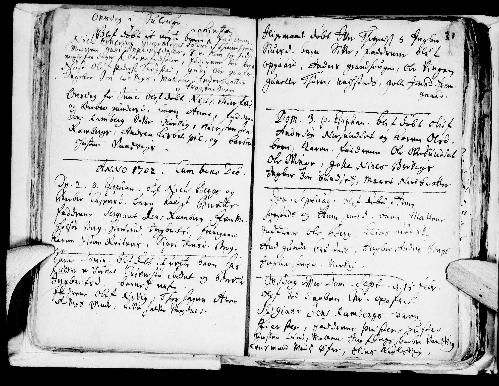 SAT, Ministerialprotokoller, klokkerbøker og fødselsregistre - Nord-Trøndelag, 722/L0214: Ministerialbok nr. 722A01, 1692-1718, s. 31