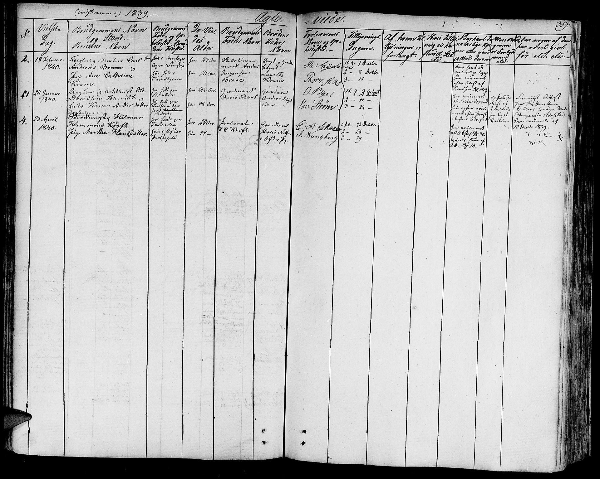 SAT, Ministerialprotokoller, klokkerbøker og fødselsregistre - Sør-Trøndelag, 602/L0109: Ministerialbok nr. 602A07, 1821-1840, s. 359