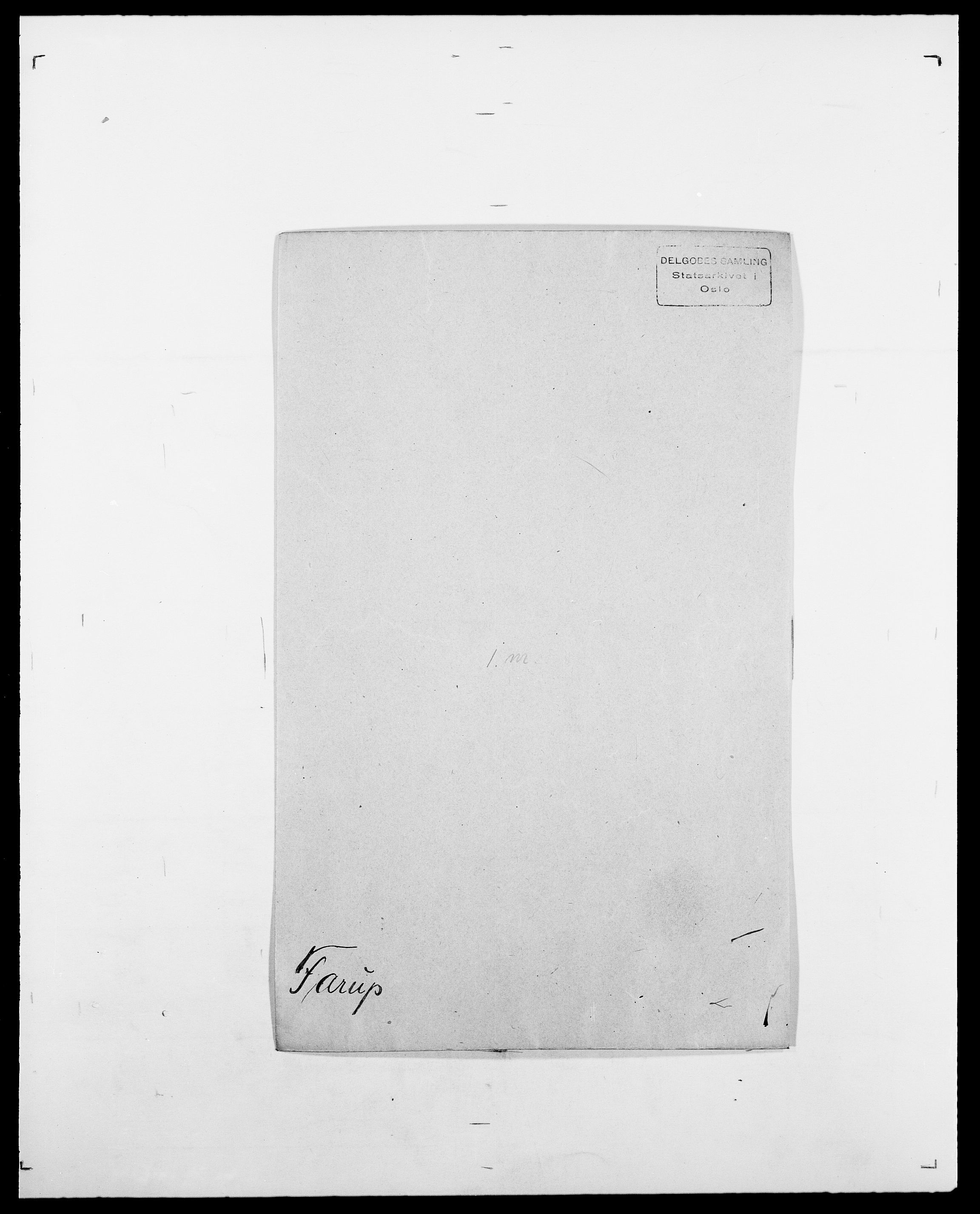 SAO, Delgobe, Charles Antoine - samling, D/Da/L0011: Fahlander - Flood, Flod, s. 187