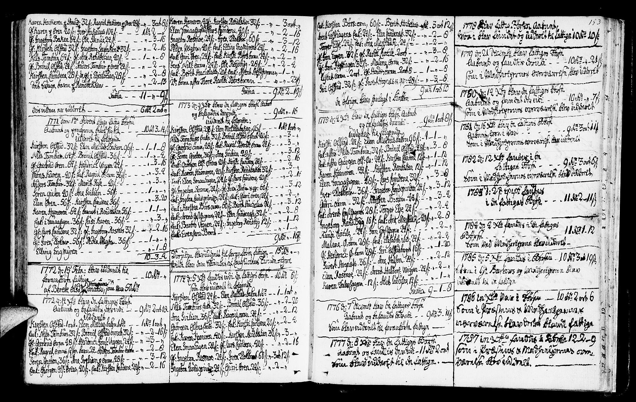 SAT, Ministerialprotokoller, klokkerbøker og fødselsregistre - Sør-Trøndelag, 665/L0768: Ministerialbok nr. 665A03, 1754-1803, s. 153