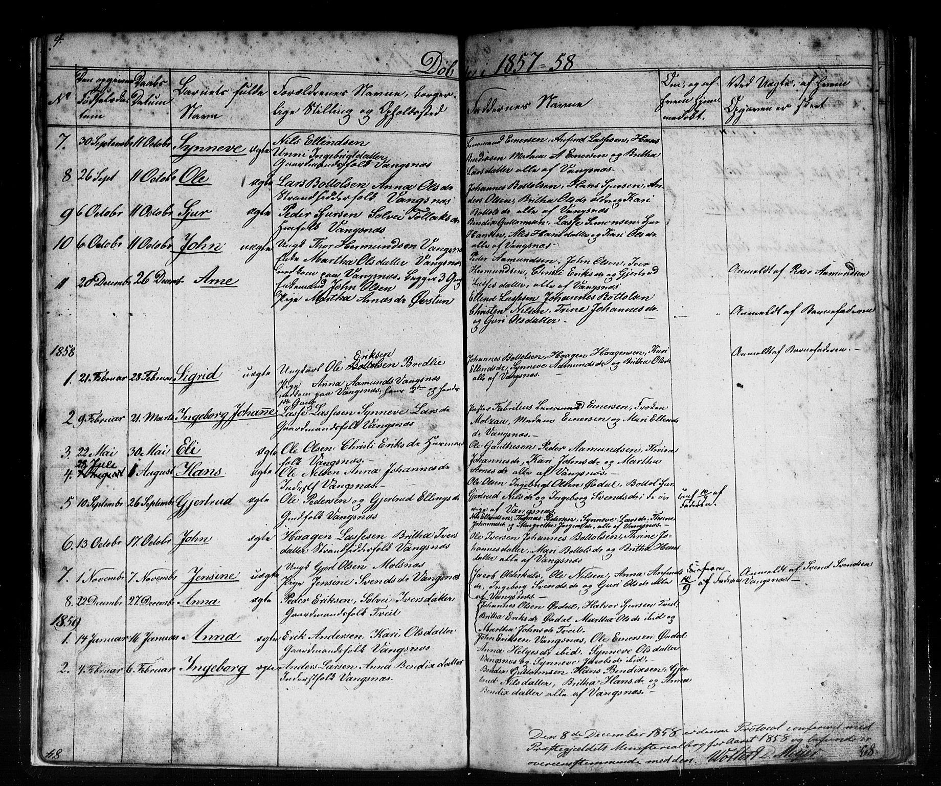 SAB, Vik sokneprestembete, Klokkerbok nr. C 1, 1853-1879, s. 4
