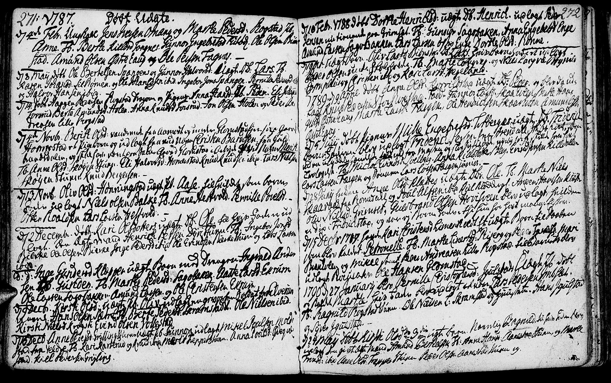 SAH, Løten prestekontor, K/Ka/L0003: Ministerialbok nr. 3, 1773-1800, s. 271-272