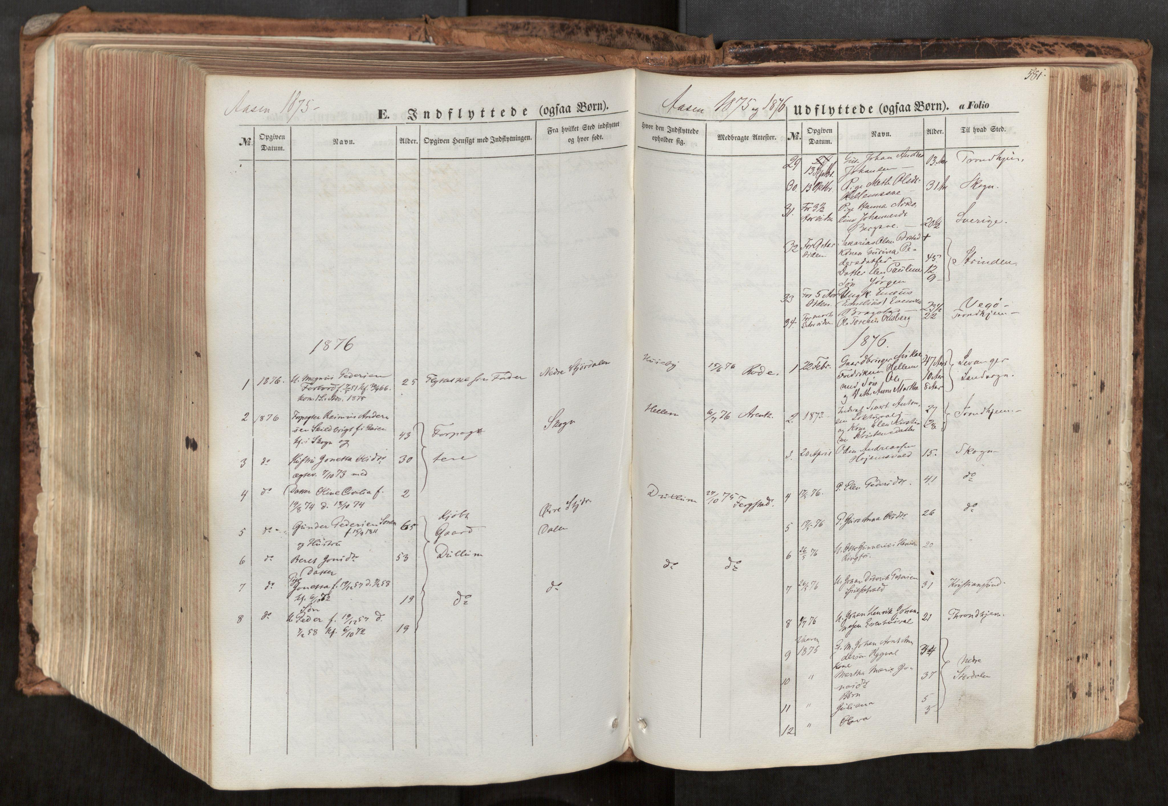 SAT, Ministerialprotokoller, klokkerbøker og fødselsregistre - Nord-Trøndelag, 713/L0116: Ministerialbok nr. 713A07, 1850-1877, s. 581