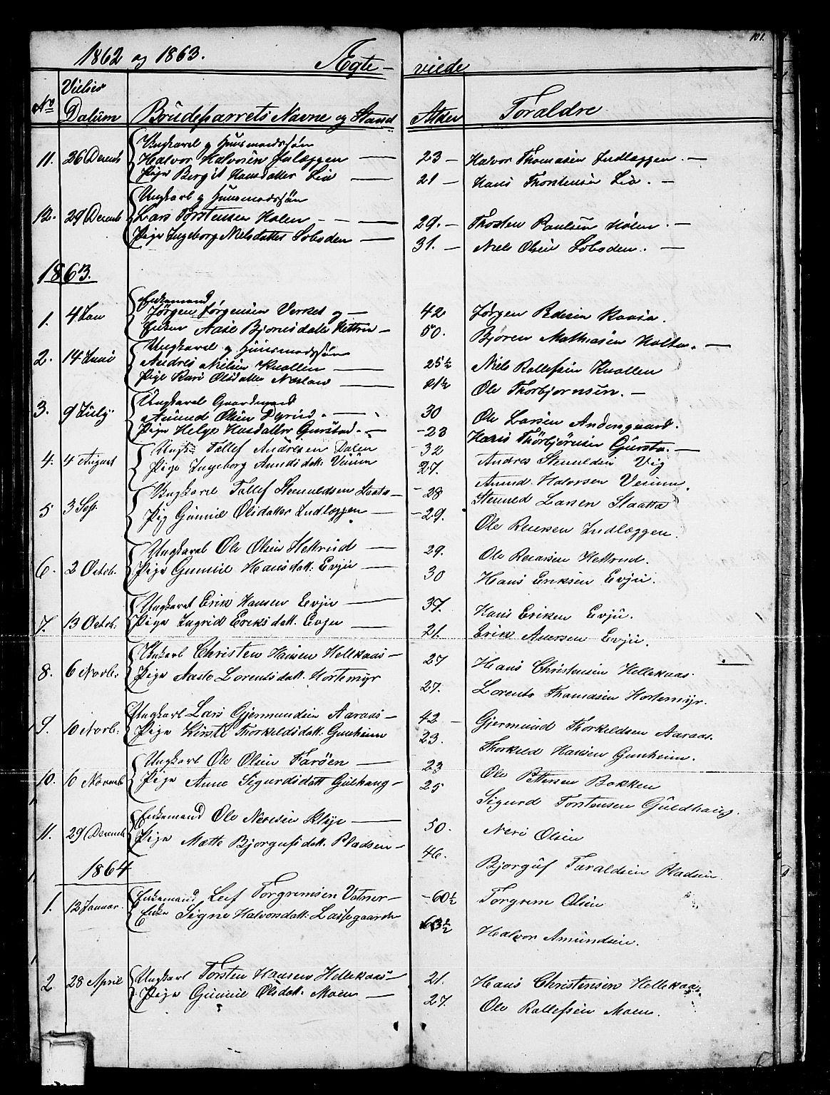 SAKO, Sauherad kirkebøker, G/Gb/L0001: Klokkerbok nr. II 1, 1845-1865, s. 101