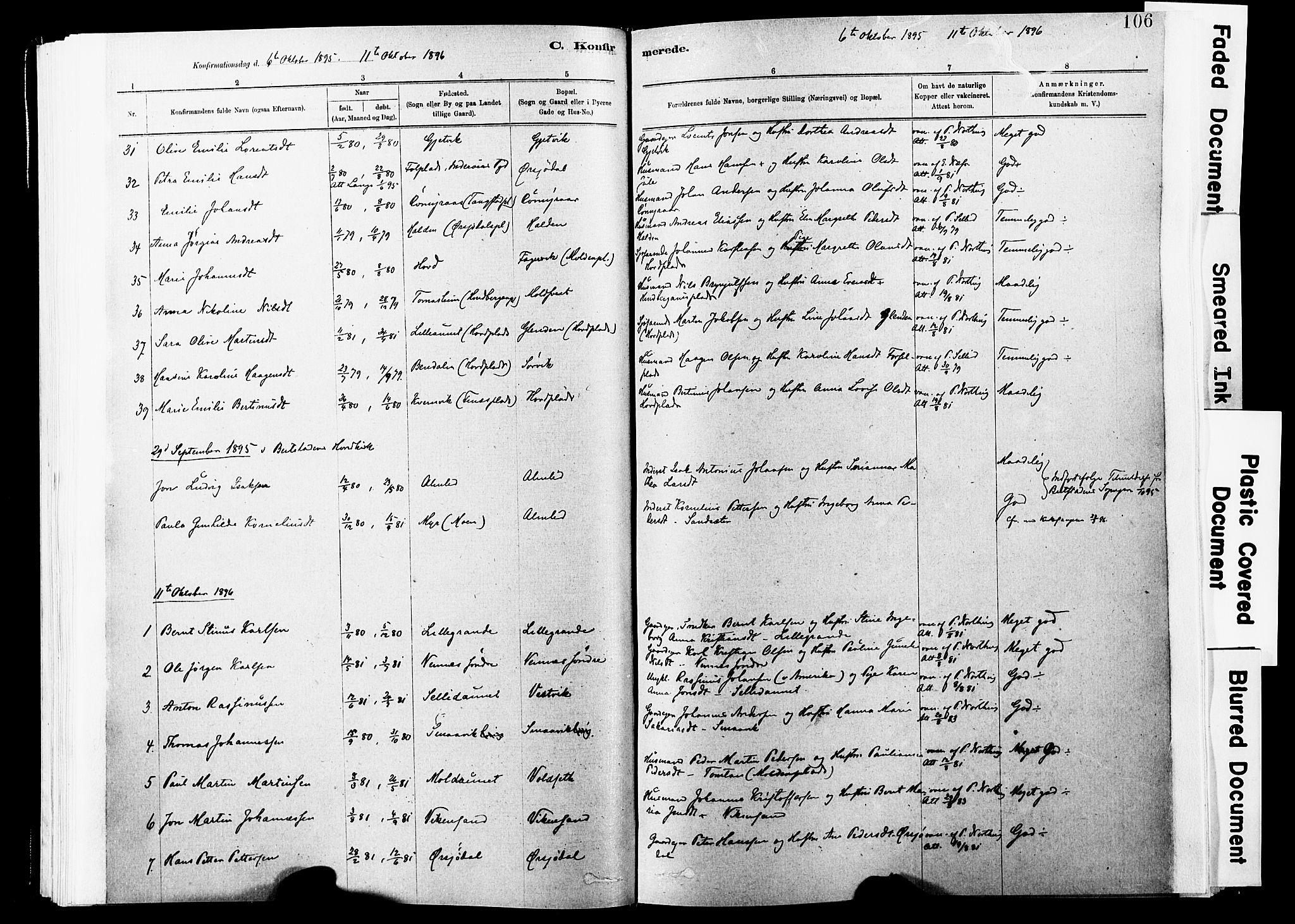 SAT, Ministerialprotokoller, klokkerbøker og fødselsregistre - Nord-Trøndelag, 744/L0420: Ministerialbok nr. 744A04, 1882-1904, s. 106
