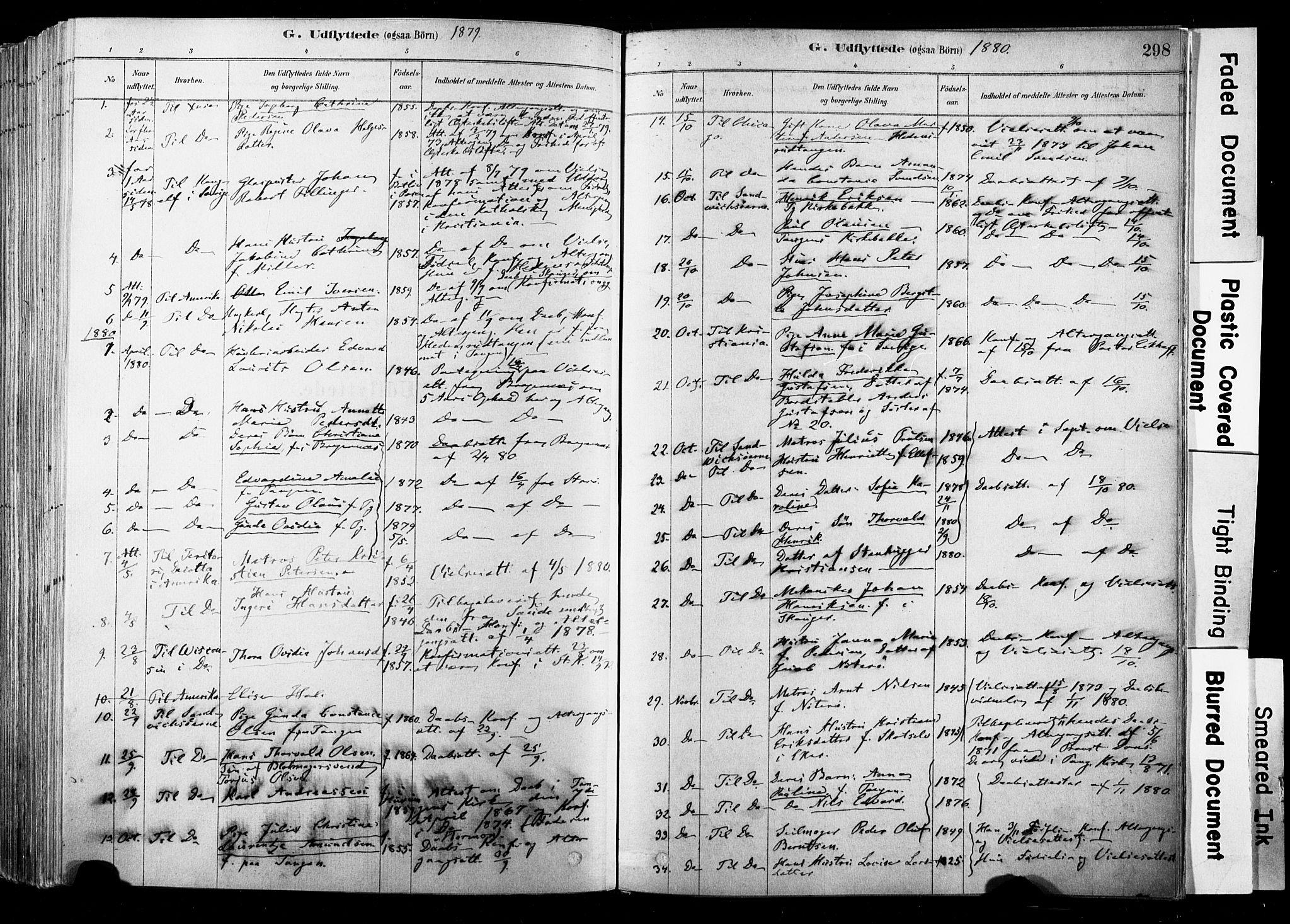 SAKO, Strømsø kirkebøker, F/Fb/L0006: Ministerialbok nr. II 6, 1879-1910, s. 298
