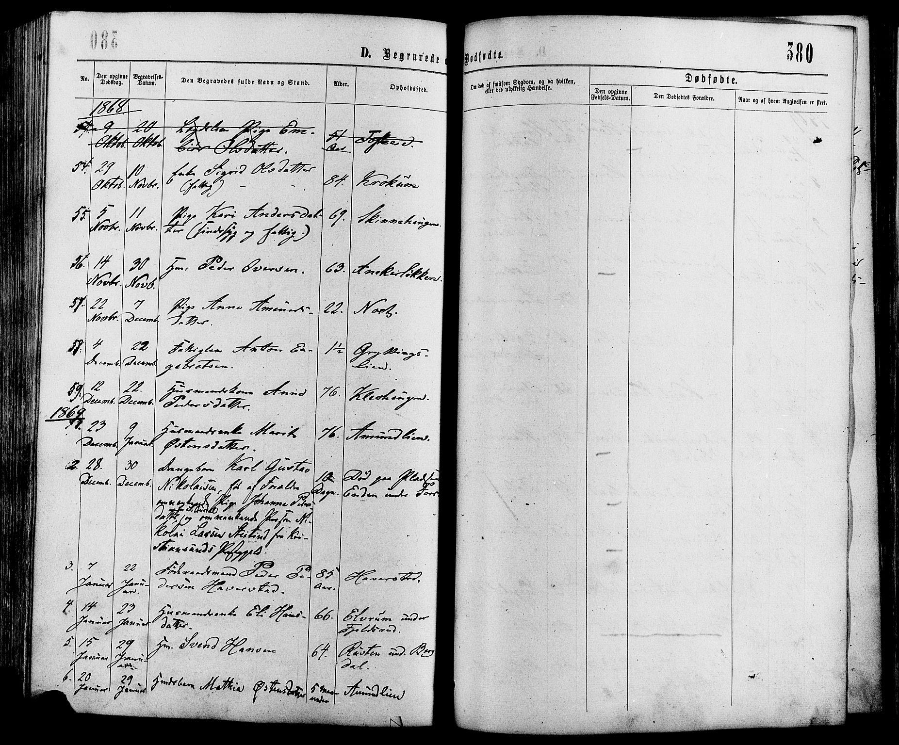 SAH, Sør-Fron prestekontor, H/Ha/Haa/L0002: Ministerialbok nr. 2, 1864-1880, s. 380