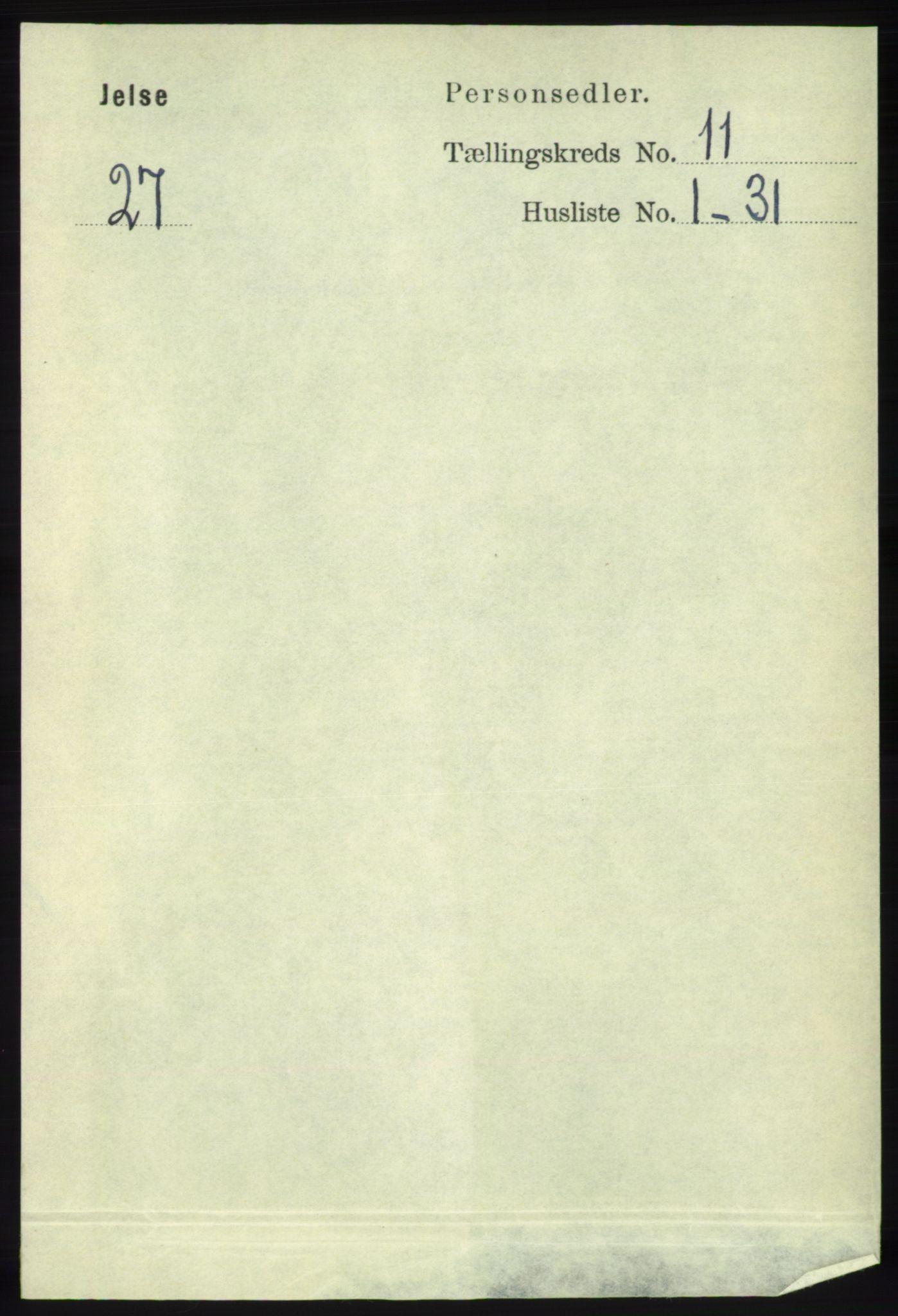 RA, Folketelling 1891 for 1138 Jelsa herred, 1891, s. 2771