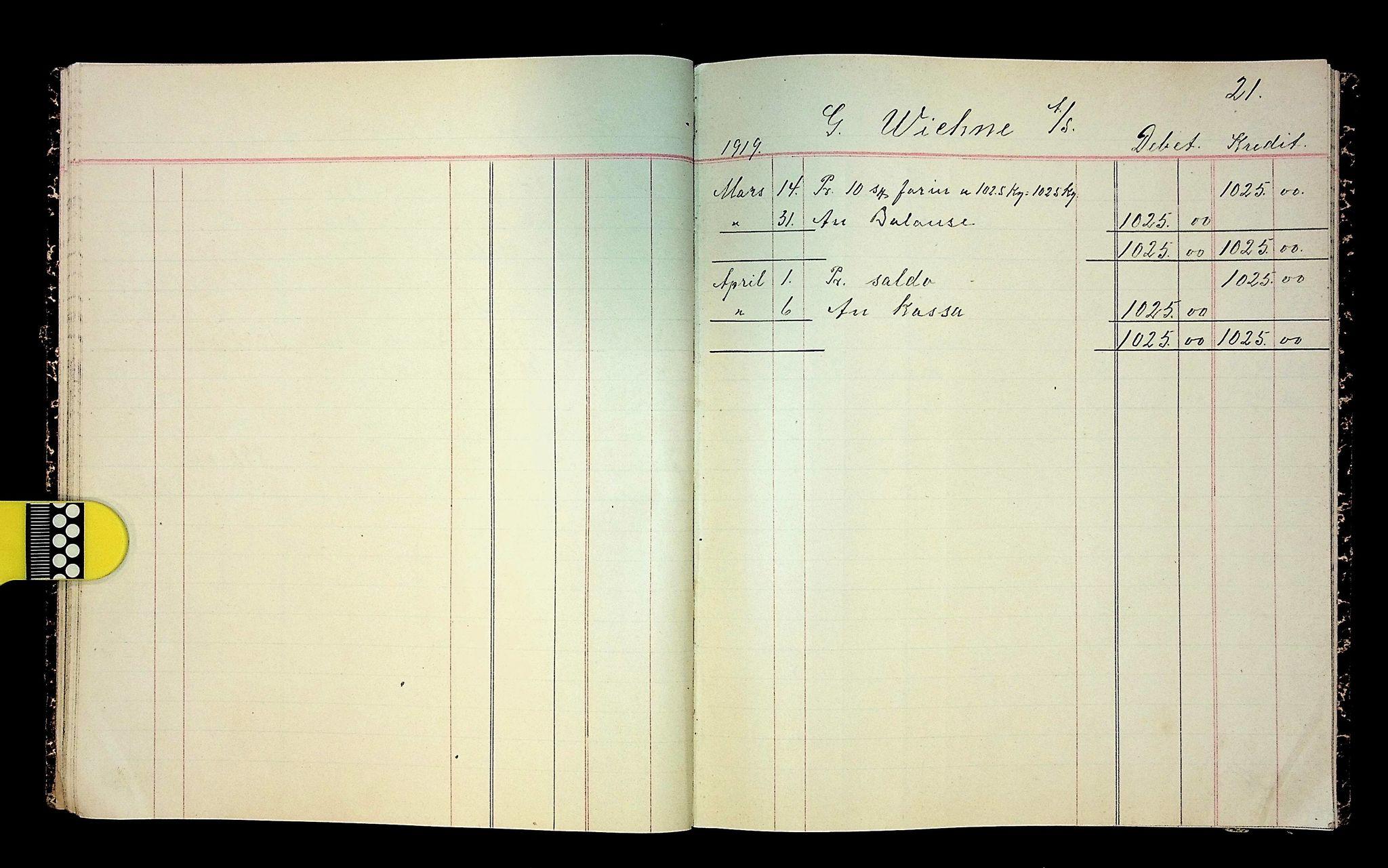 IKAH, Varaldsøy kommune. Mundheim provianteringsråd, R/Ra/L0002: Kontobok  for Mundheim provianteringsråd, 1919-1920, s. 22