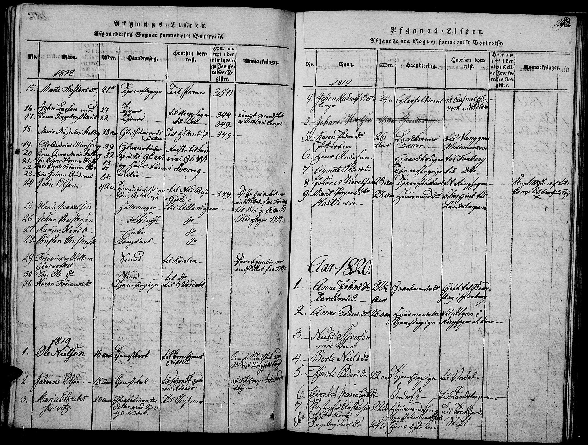 SAH, Biri prestekontor, Ministerialbok nr. 3, 1814-1828, s. 288