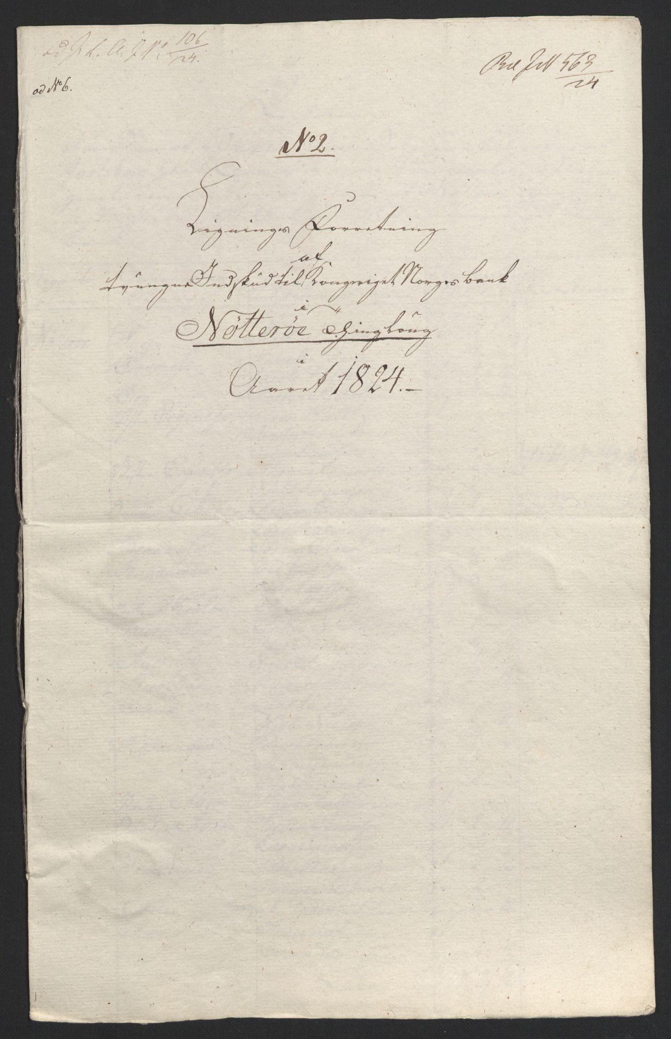 NOBA, Norges Bank/Sølvskatten 1816*, 1816-1824, s. 81