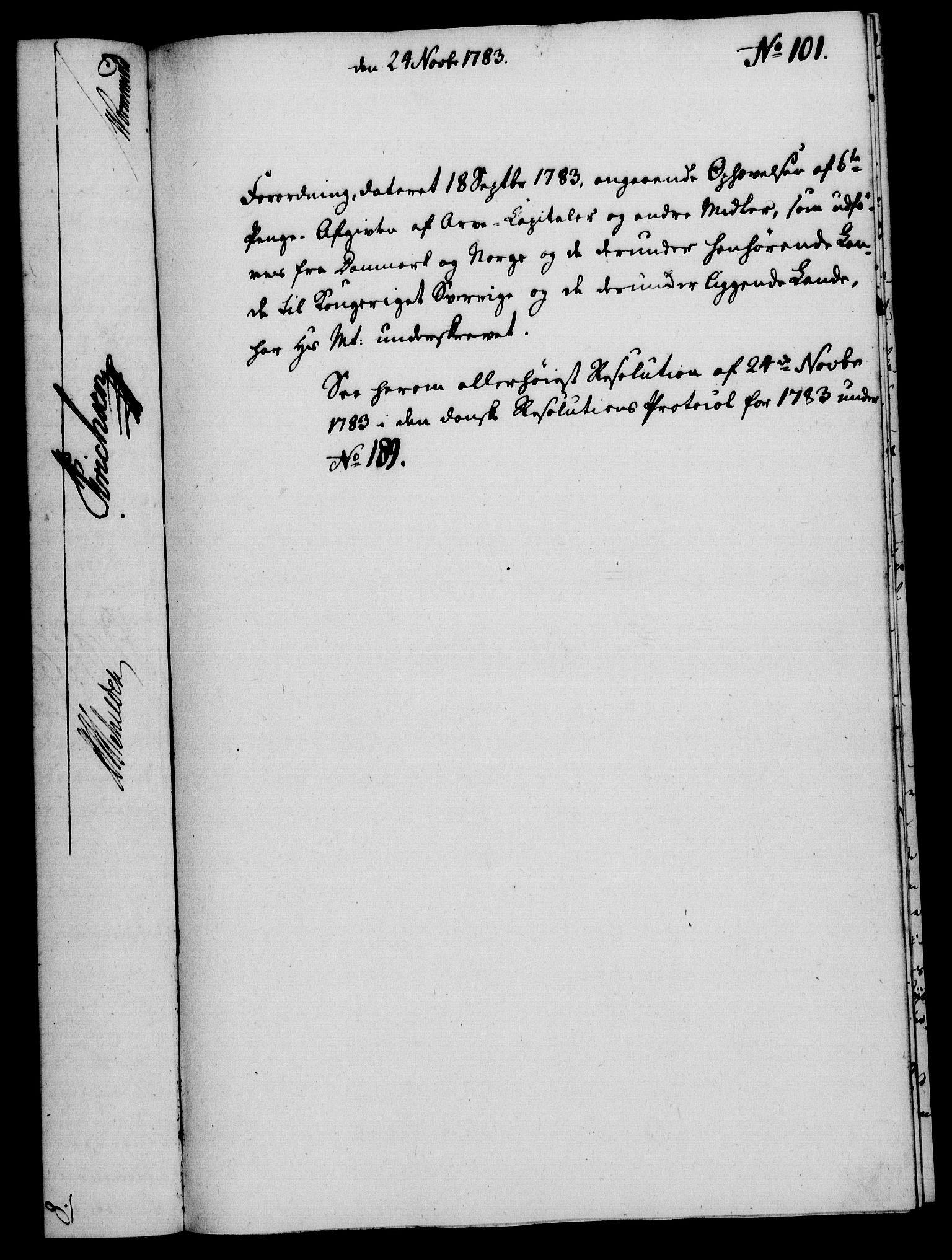RA, Rentekammeret, Kammerkanselliet, G/Gf/Gfa/L0065: Norsk relasjons- og resolusjonsprotokoll (merket RK 52.65), 1783, s. 751