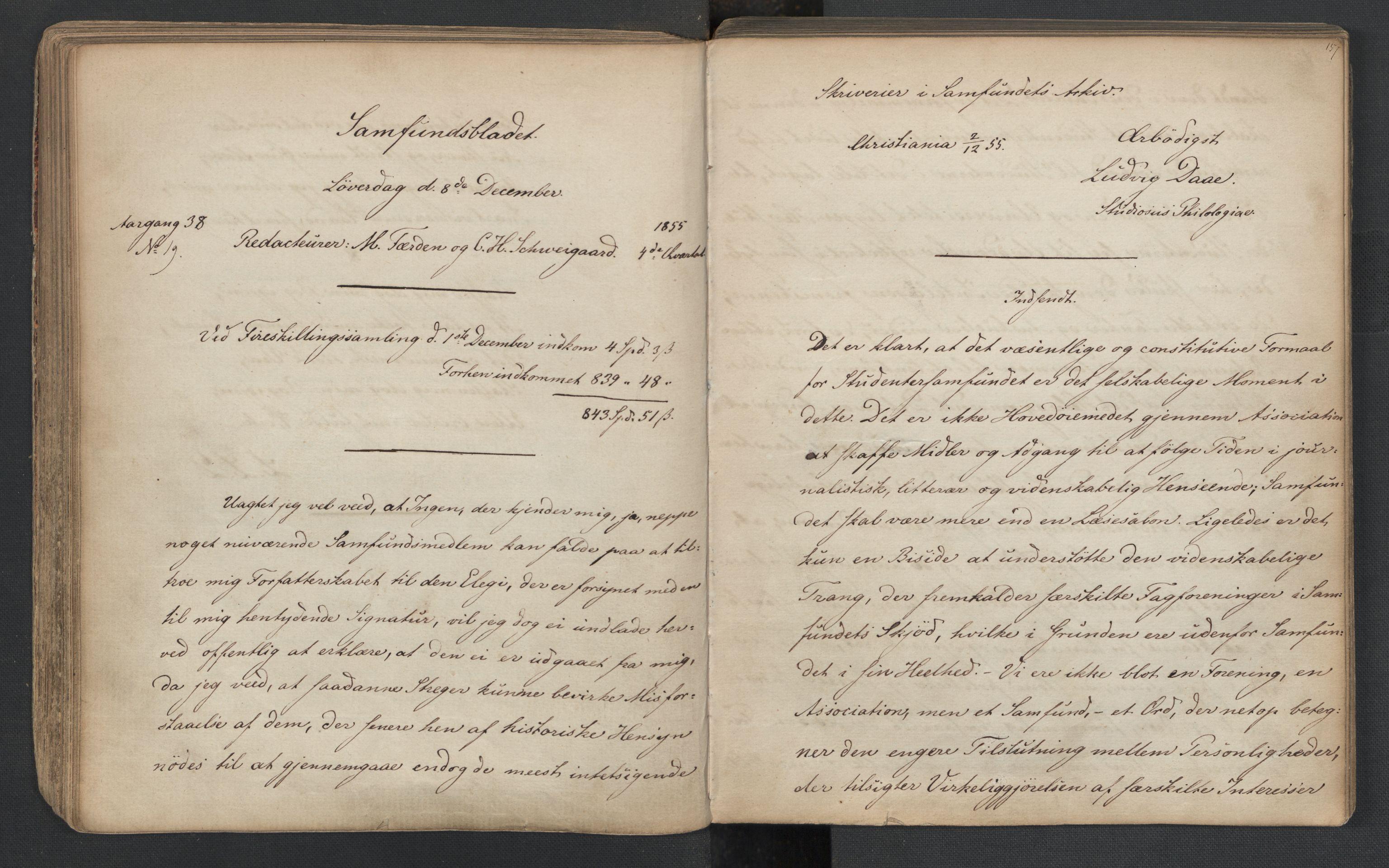 RA, Det Norske Studentersamfund, X/Xa/L0005, 1855-1856, s. 80