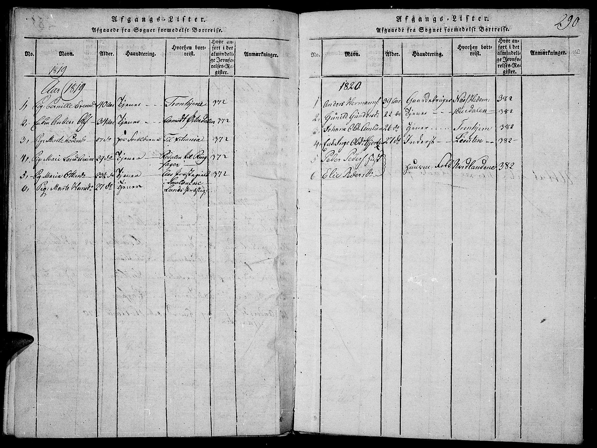 SAH, Toten prestekontor, Ministerialbok nr. 9, 1814-1820, s. 290