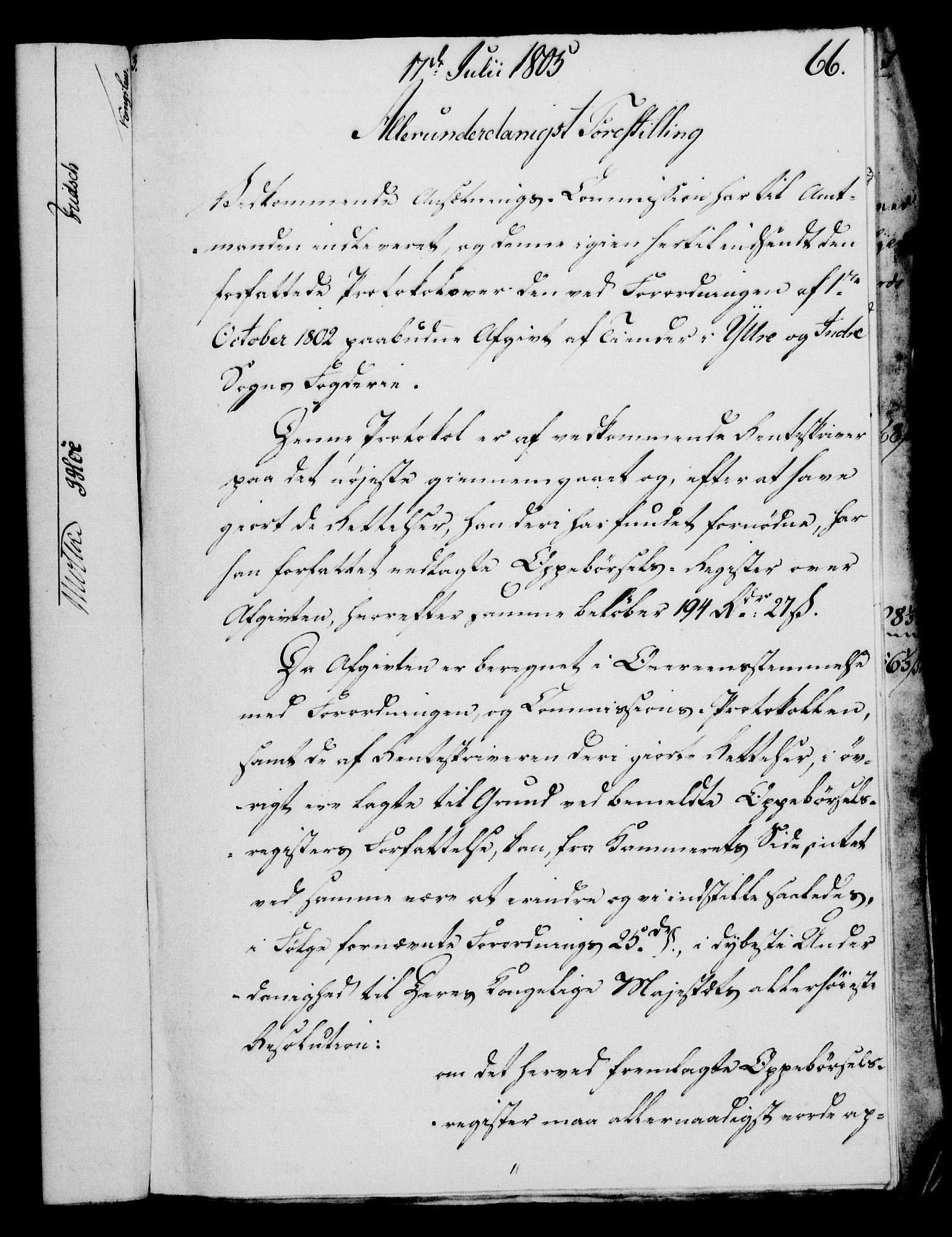 RA, Rentekammeret, Kammerkanselliet, G/Gf/Gfa/L0087: Norsk relasjons- og resolusjonsprotokoll (merket RK 52.87), 1805, s. 378