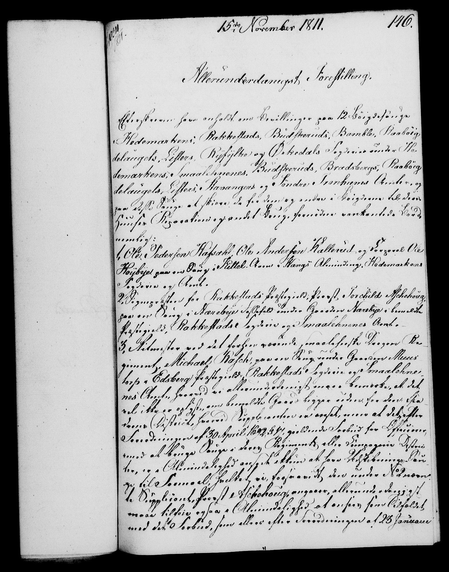 RA, Rentekammeret, Kammerkanselliet, G/Gf/Gfa/L0093: Norsk relasjons- og resolusjonsprotokoll (merket RK 52.93), 1811, s. 577