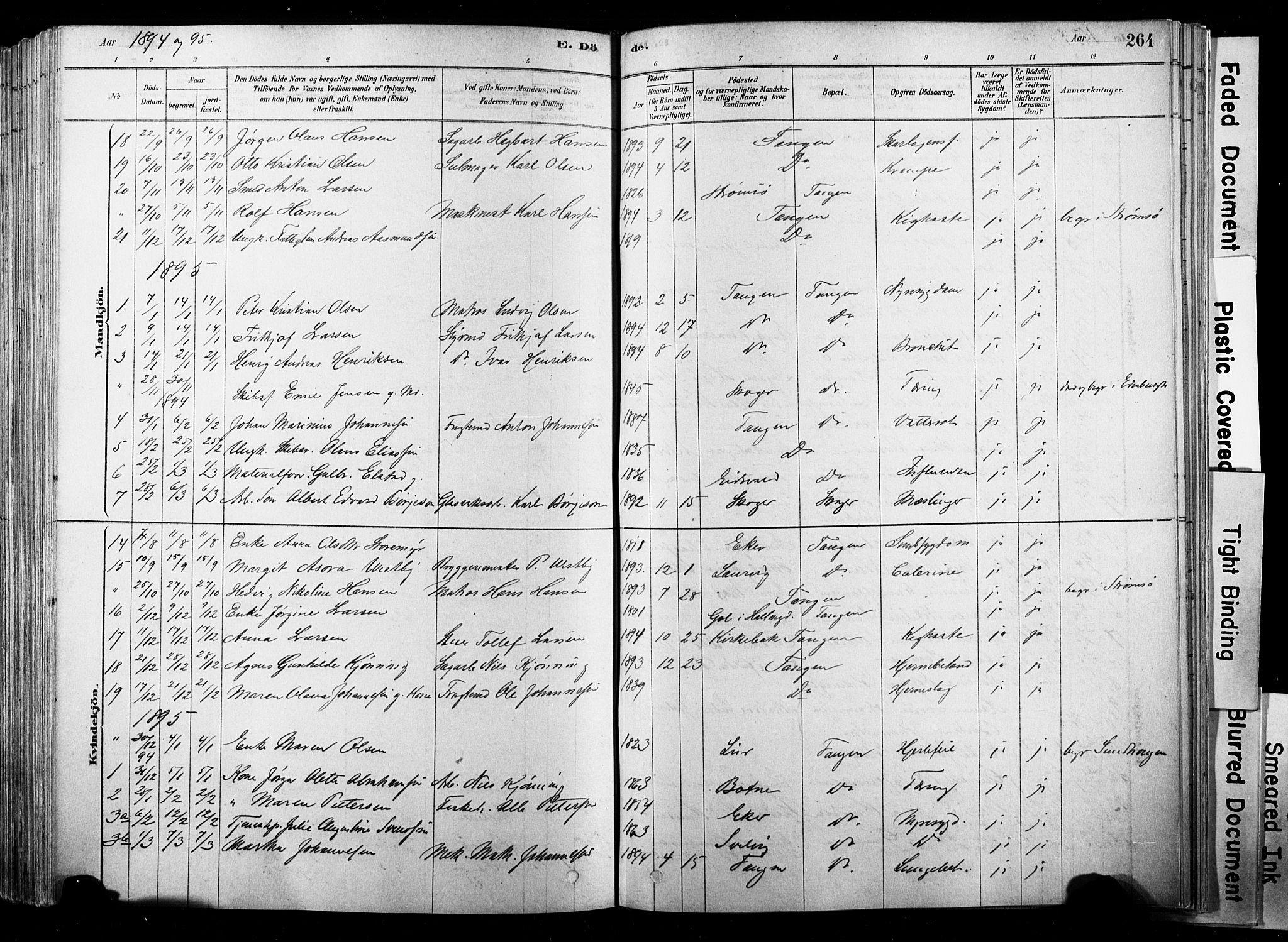SAKO, Strømsø kirkebøker, F/Fb/L0006: Ministerialbok nr. II 6, 1879-1910, s. 264