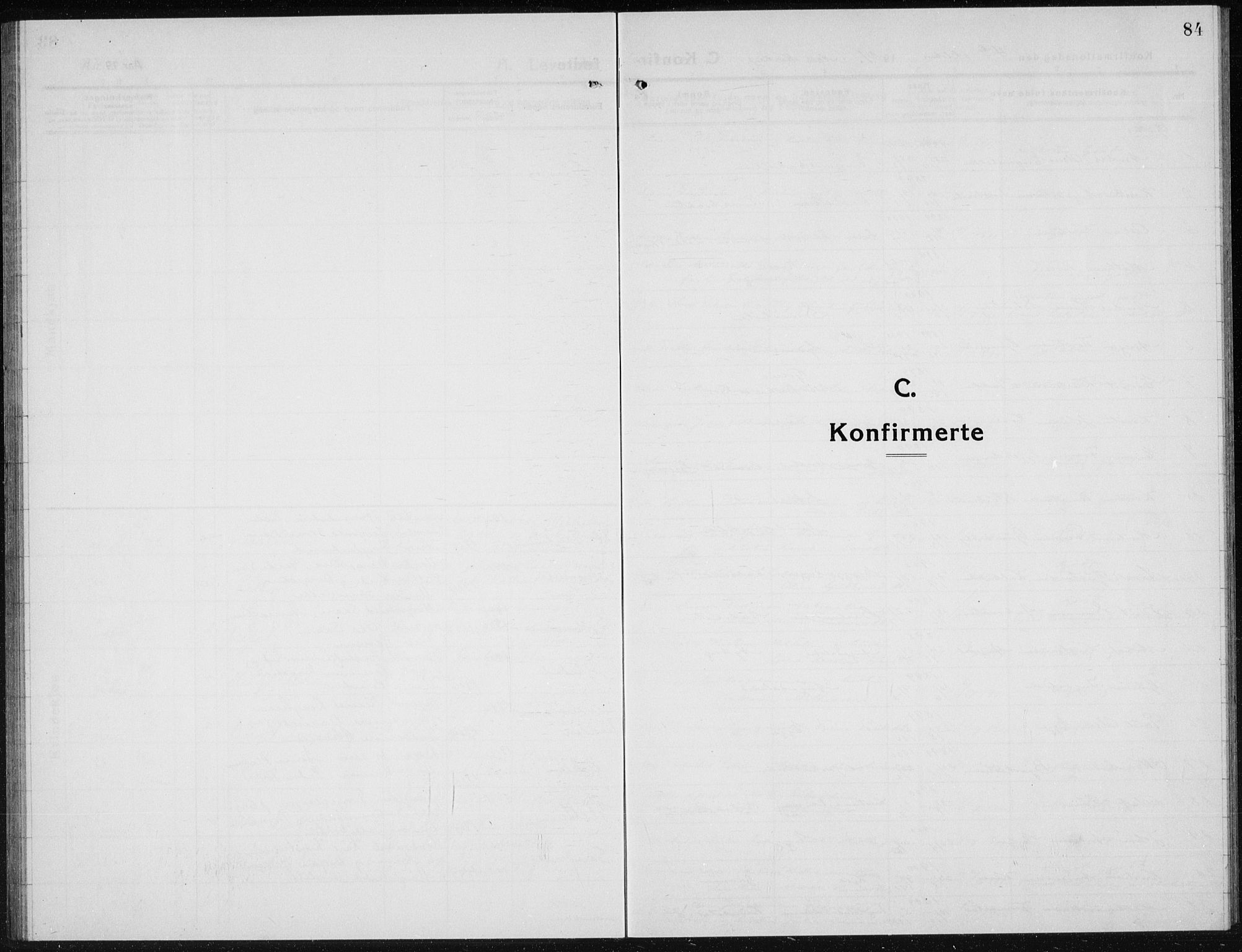 SAH, Brandbu prestekontor, Klokkerbok nr. 1, 1914-1937, s. 84