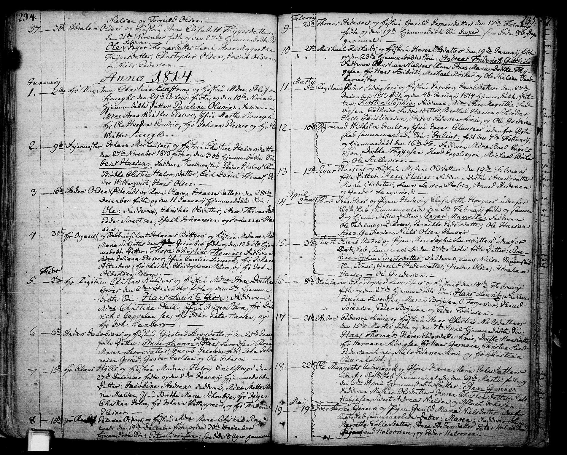 SAKO, Skien kirkebøker, F/Fa/L0004: Ministerialbok nr. 4, 1792-1814, s. 234-235