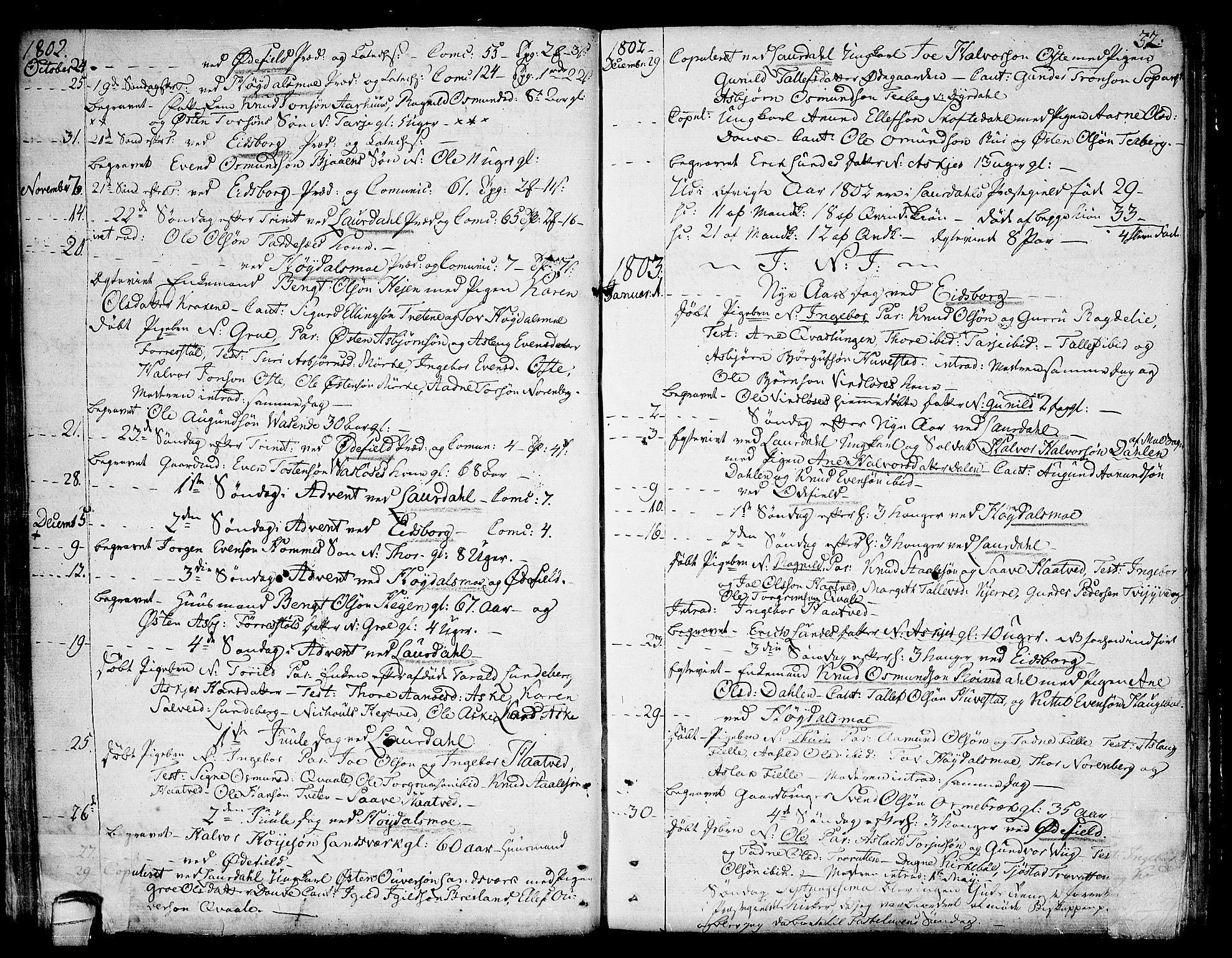 SAKO, Lårdal kirkebøker, F/Fa/L0004: Ministerialbok nr. I 4, 1790-1814, s. 32