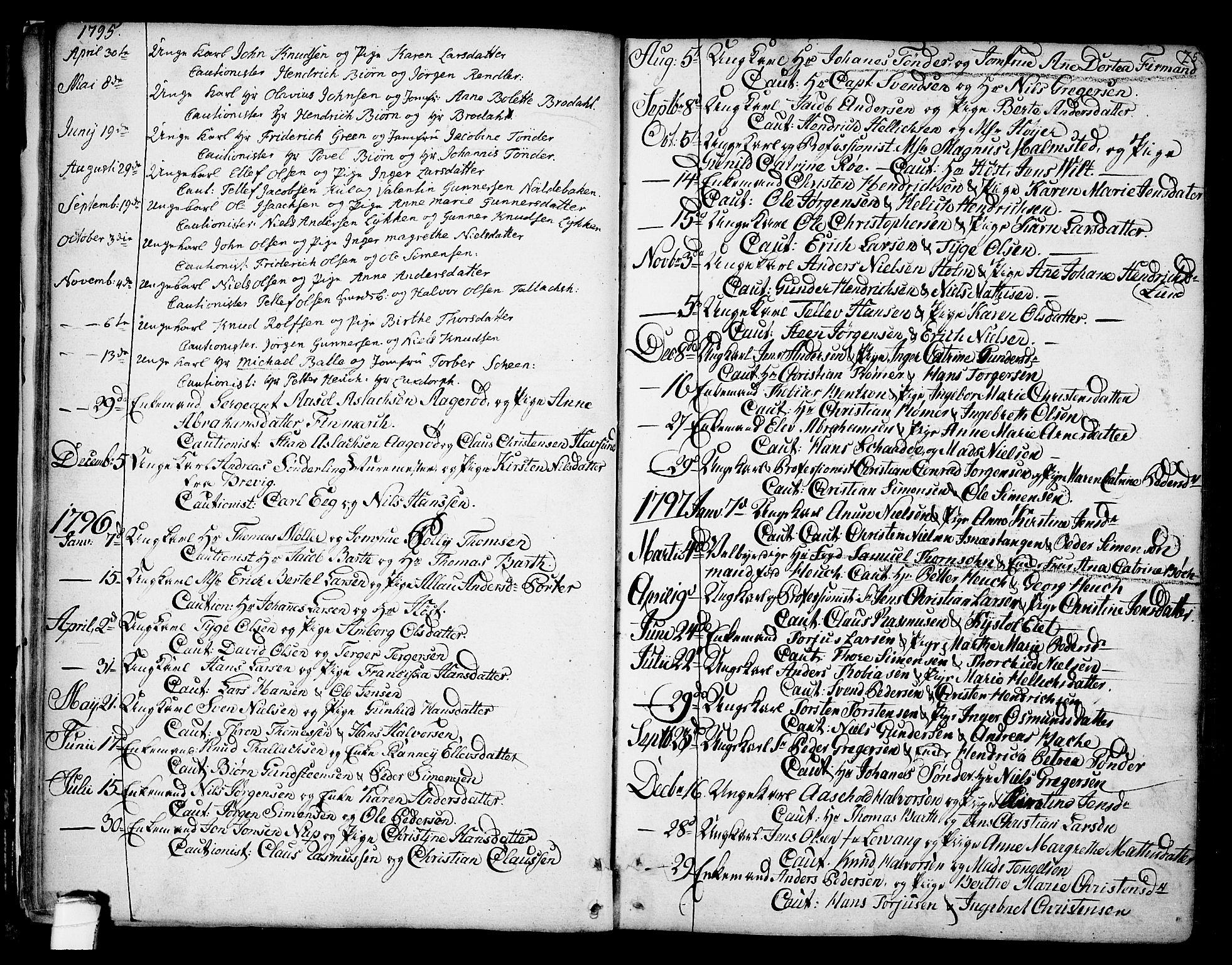 SAKO, Kragerø kirkebøker, F/Fa/L0002: Ministerialbok nr. 2, 1767-1802, s. 25