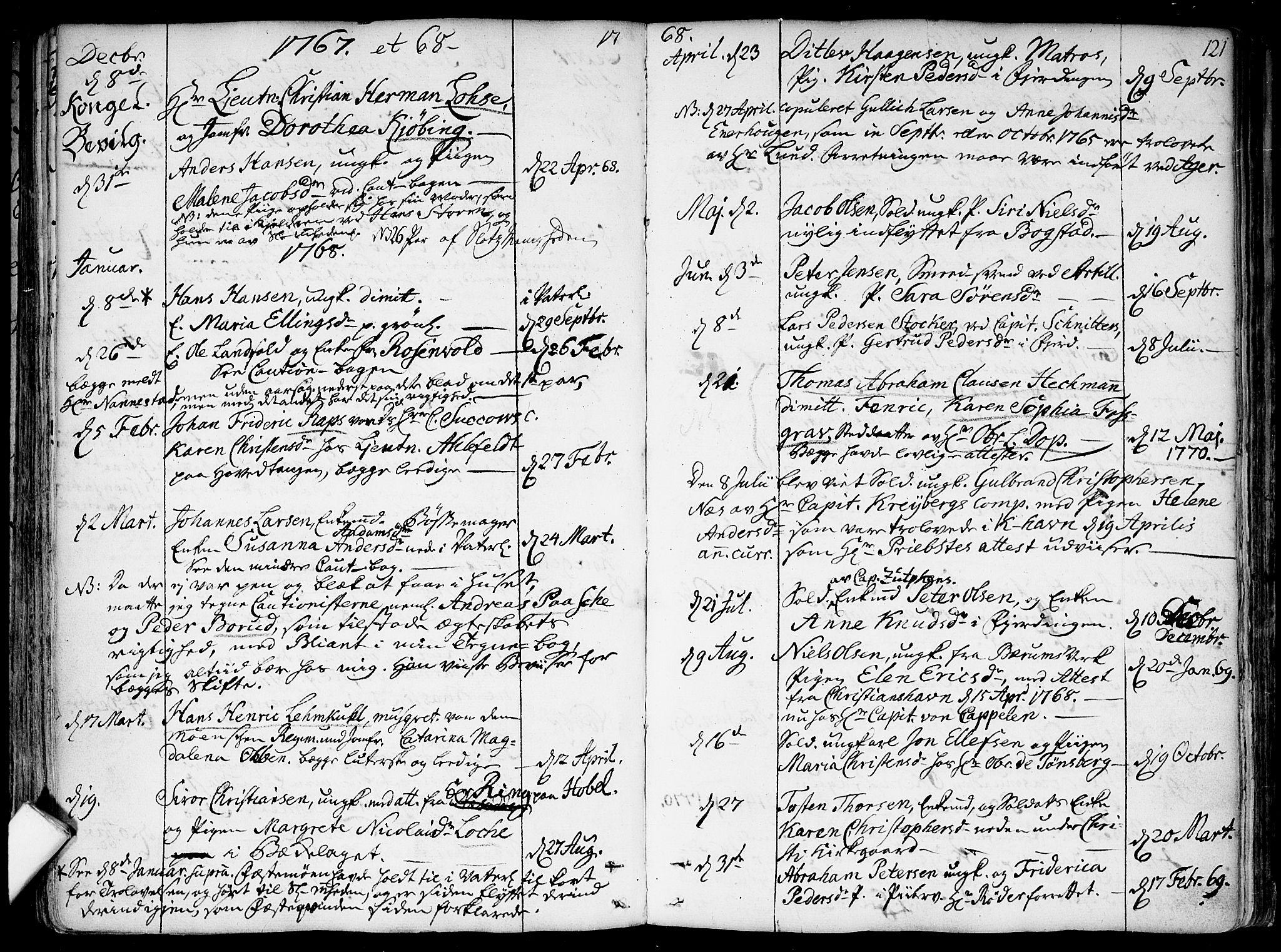 SAO, Garnisonsmenigheten Kirkebøker, F/Fa/L0002: Ministerialbok nr. 2, 1757-1776, s. 121