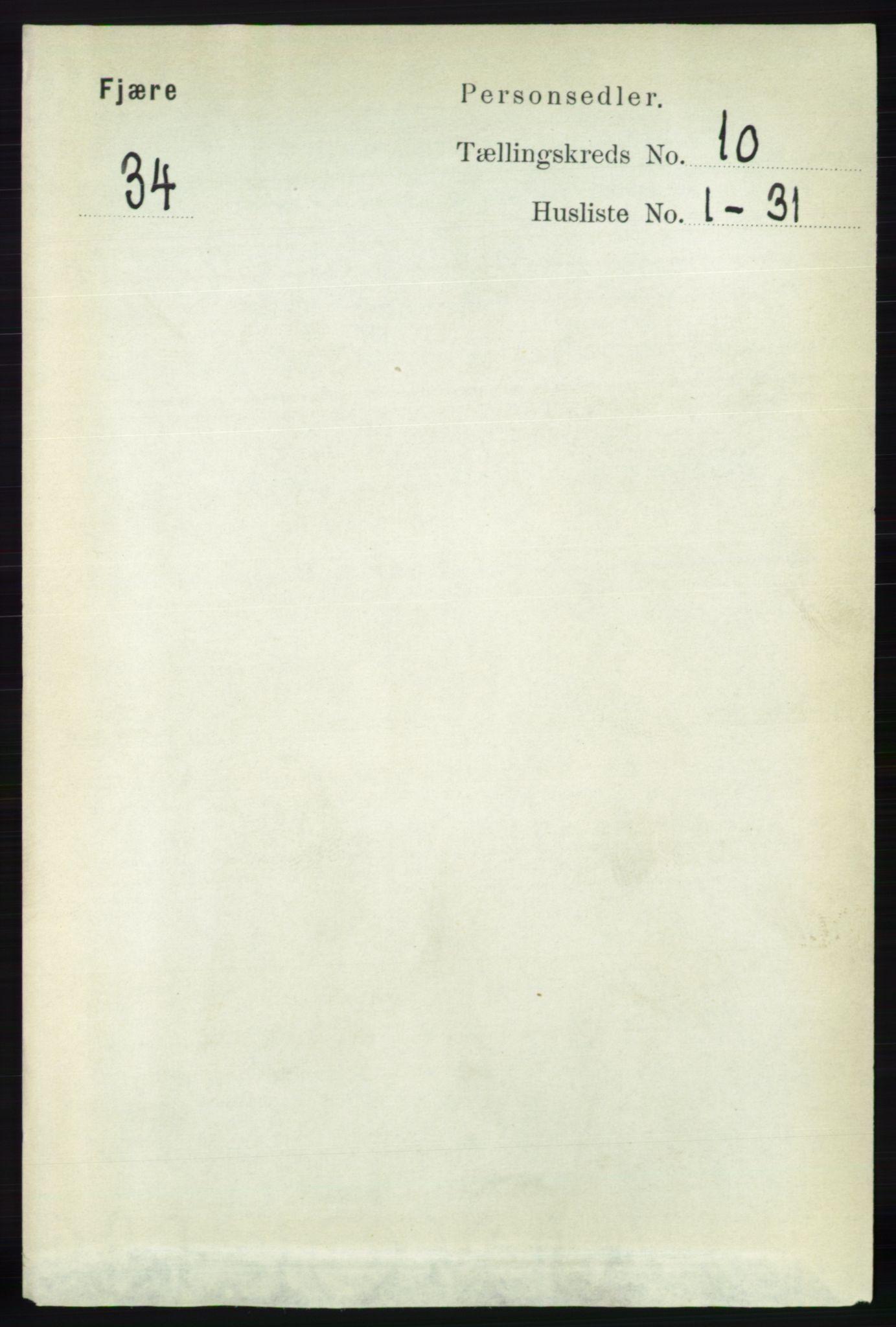 RA, Folketelling 1891 for 0923 Fjære herred, 1891, s. 4999