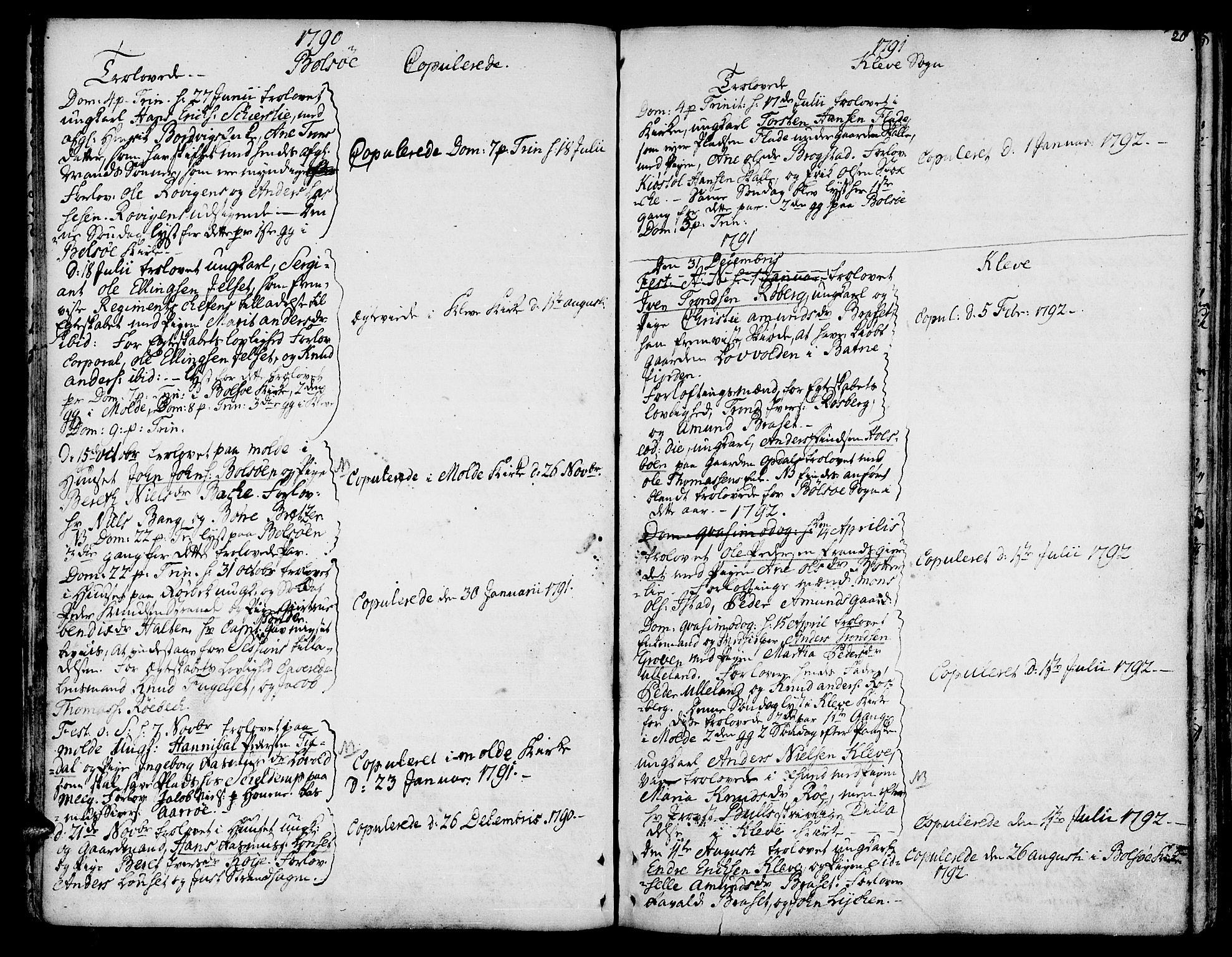 SAT, Ministerialprotokoller, klokkerbøker og fødselsregistre - Møre og Romsdal, 555/L0648: Ministerialbok nr. 555A01, 1759-1793, s. 20