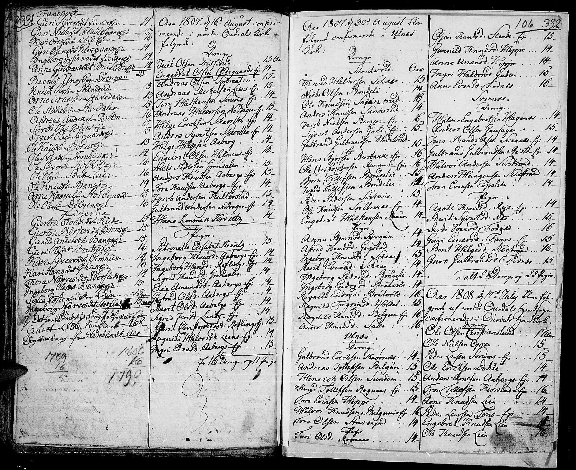 SAH, Aurdal prestekontor, Ministerialbok nr. 7, 1800-1808, s. 106