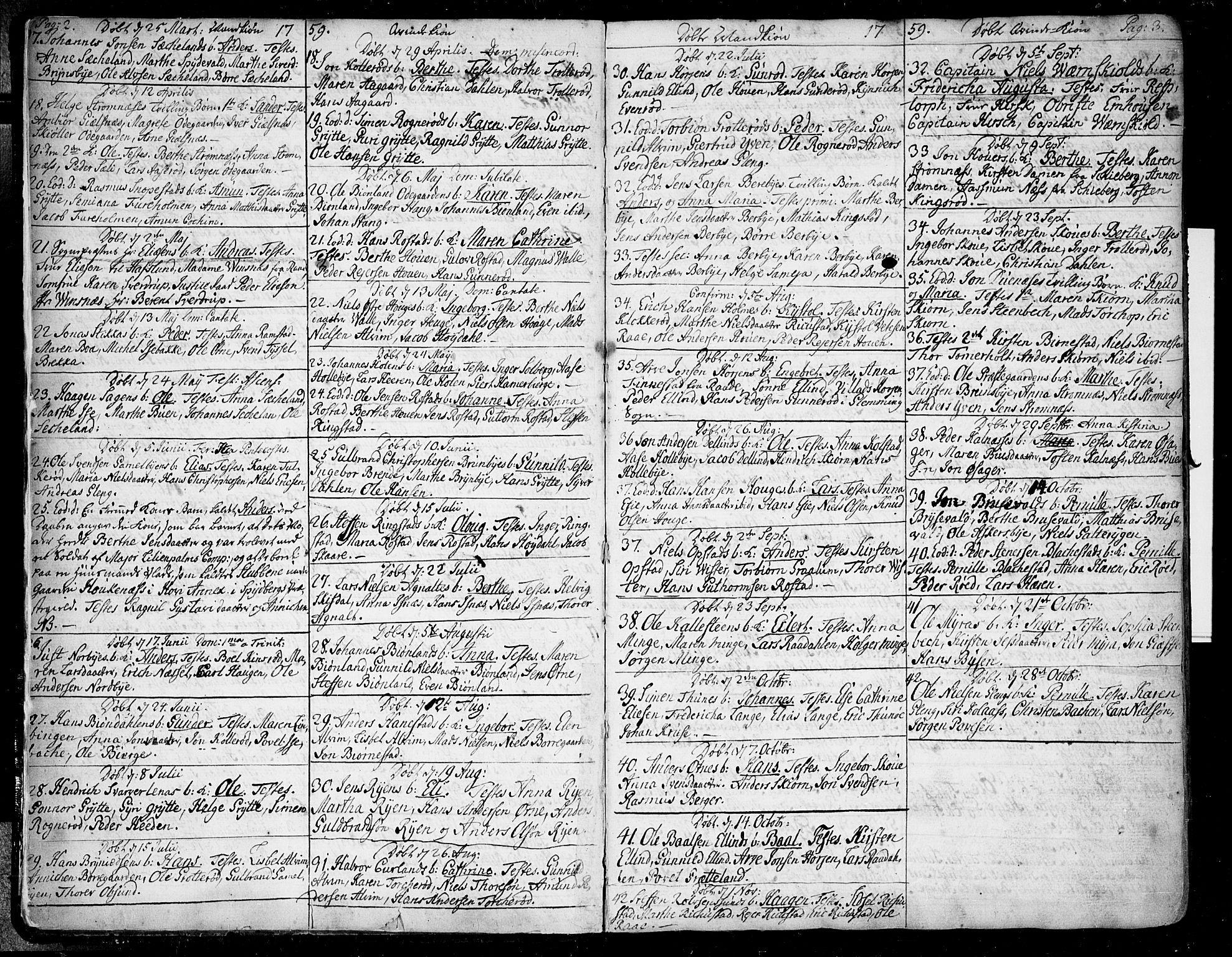 SAO, Tune prestekontor Kirkebøker, F/Fa/L0002: Ministerialbok nr. 2, 1758-1781, s. 2-3