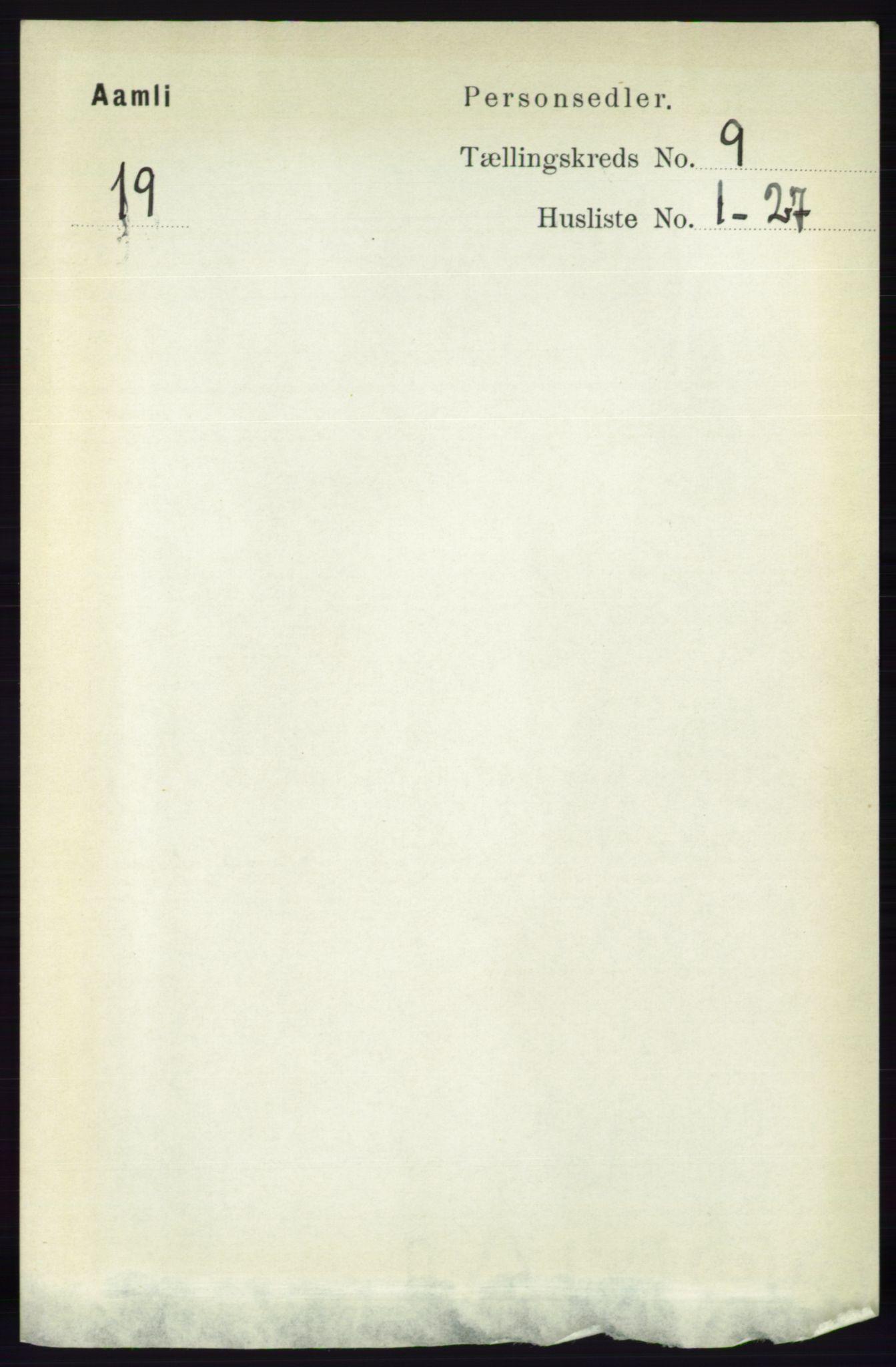 RA, Folketelling 1891 for 0929 Åmli herred, 1891, s. 1455