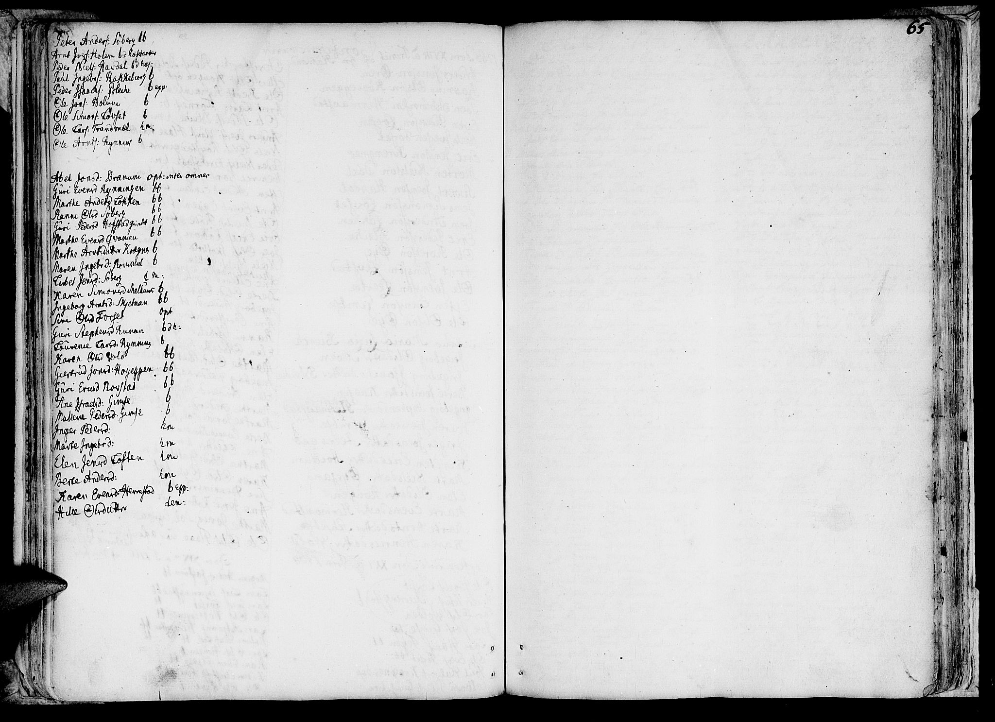 SAT, Ministerialprotokoller, klokkerbøker og fødselsregistre - Sør-Trøndelag, 691/L1057: Ministerialbok nr. 691A01 /1, 1740-1767, s. 65