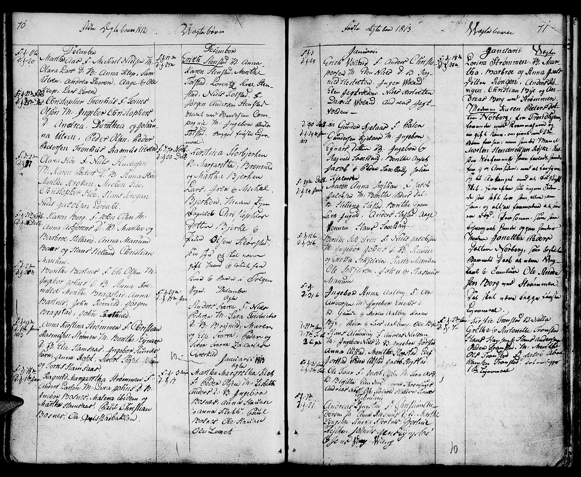 SAT, Ministerialprotokoller, klokkerbøker og fødselsregistre - Nord-Trøndelag, 730/L0274: Ministerialbok nr. 730A03, 1802-1816, s. 70-71