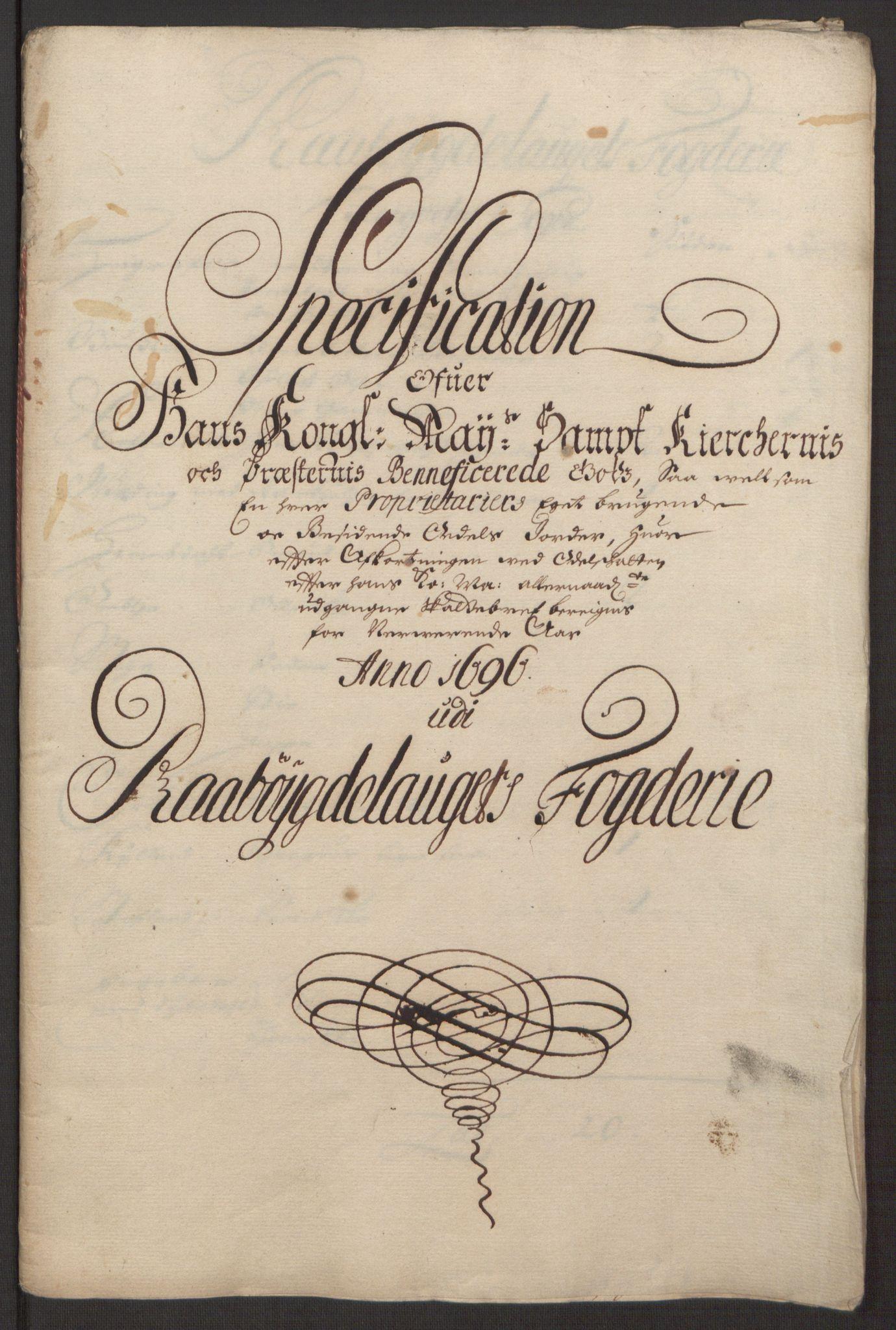 RA, Rentekammeret inntil 1814, Reviderte regnskaper, Fogderegnskap, R40/L2444: Fogderegnskap Råbyggelag, 1693-1696, s. 342