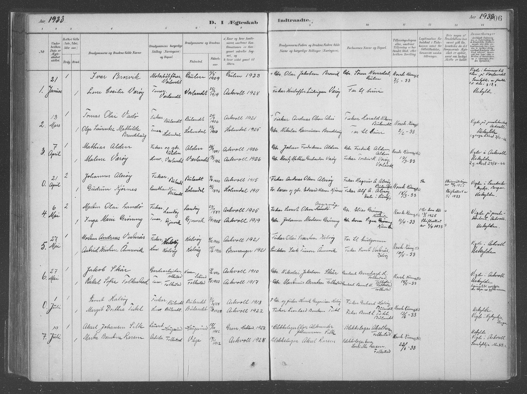SAB, Askvoll Sokneprestembete, Ministerialbok nr. C  1, 1879-1922, s. 206