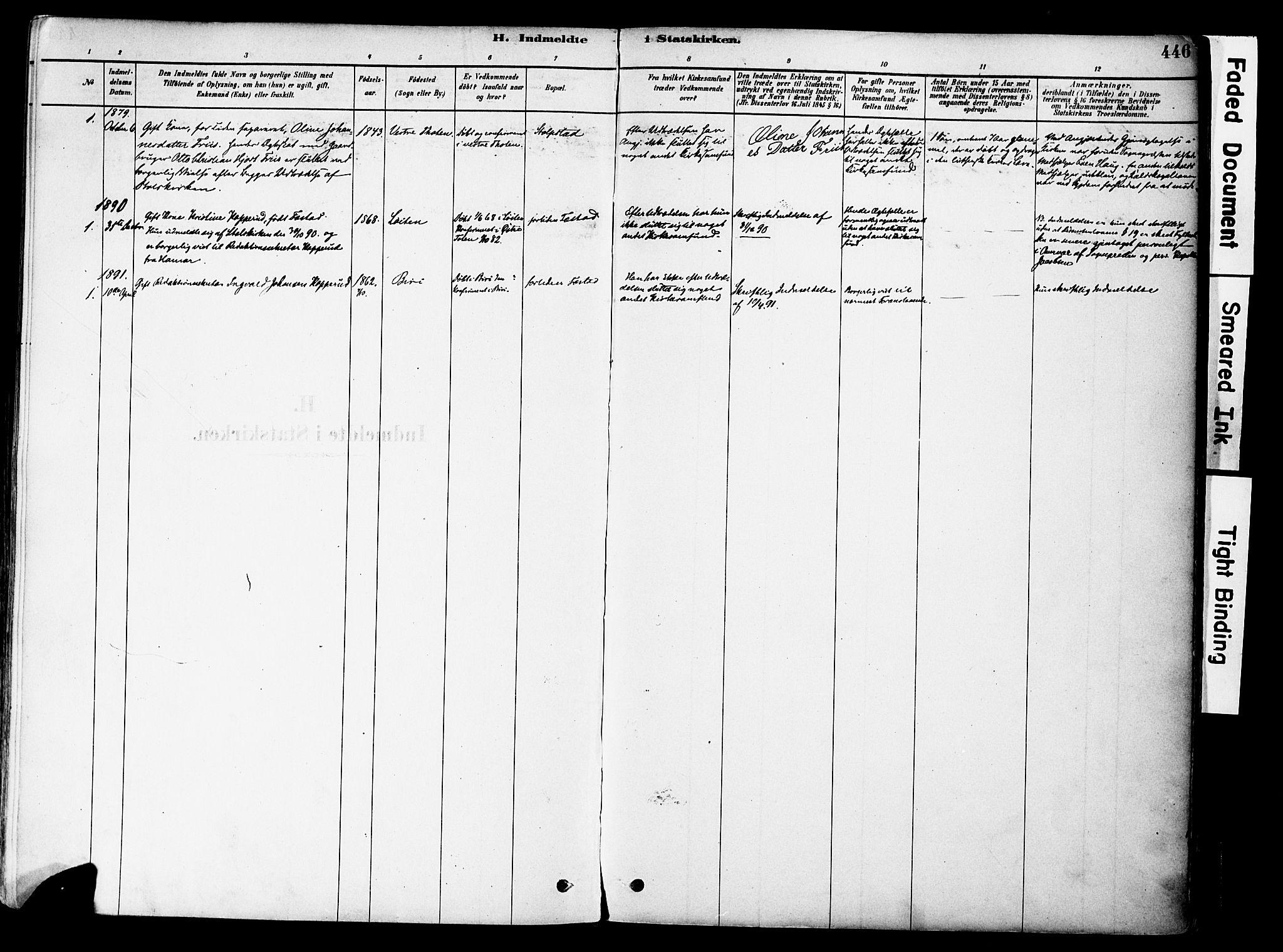 SAH, Østre Toten prestekontor, Ministerialbok nr. 6 /1, 1878-1896, s. 446