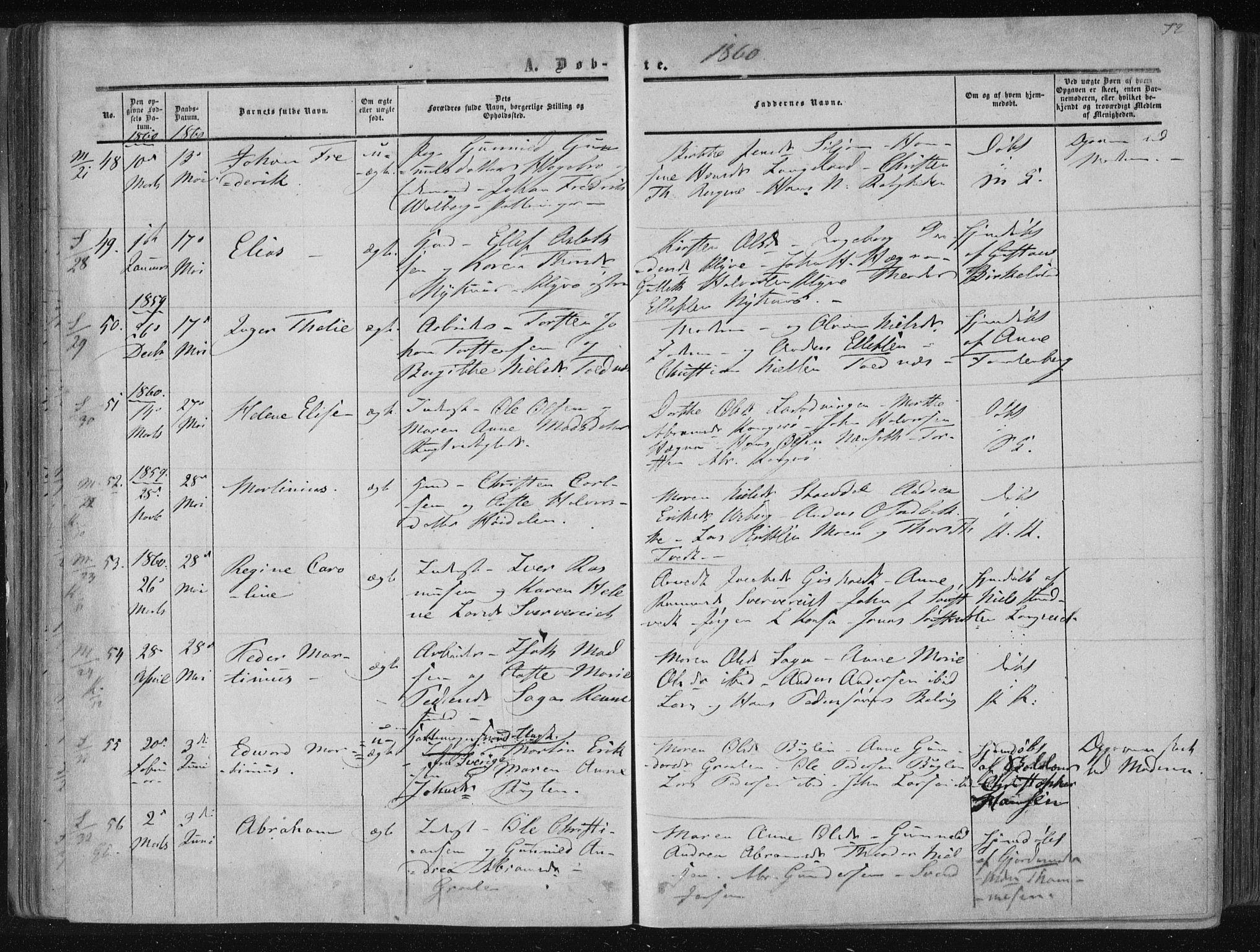 SAKO, Solum kirkebøker, F/Fa/L0007: Ministerialbok nr. I 7, 1856-1864, s. 72