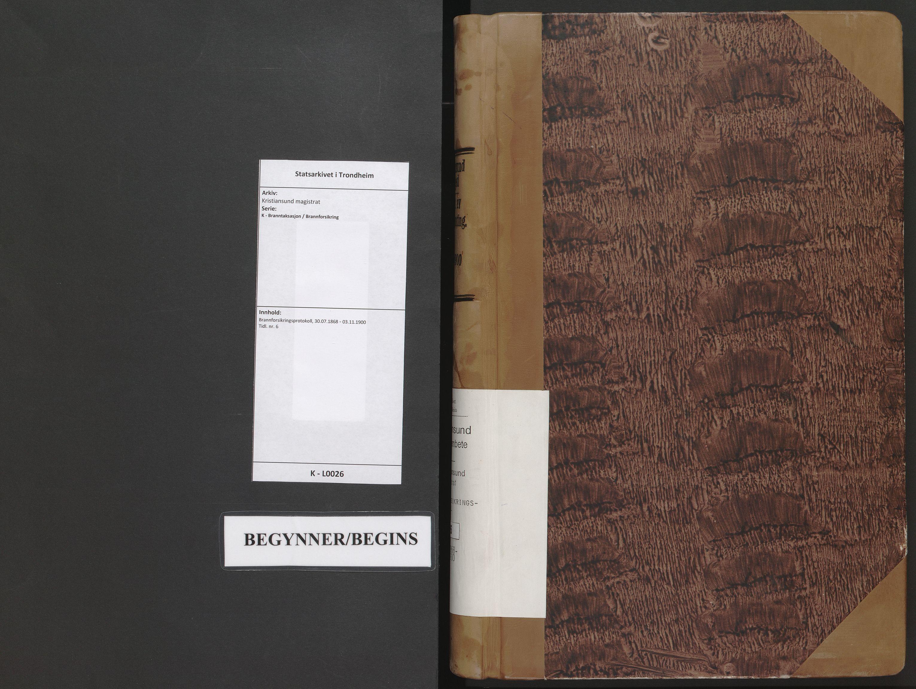 SAT, Kristiansund magistrat, K/L0026: Brannforsikringsprotokoll, 1868-1900