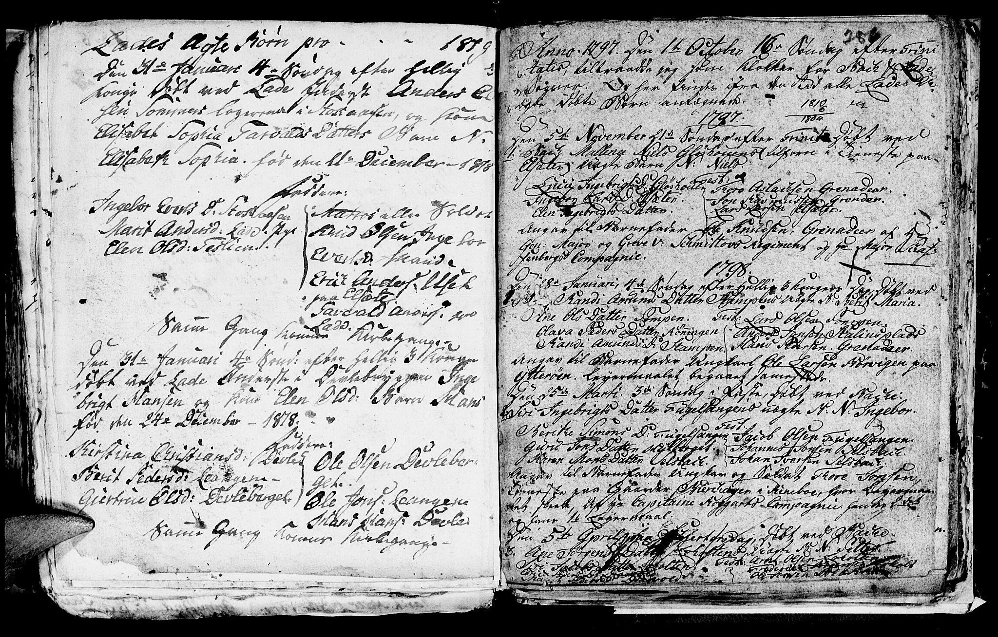 SAT, Ministerialprotokoller, klokkerbøker og fødselsregistre - Sør-Trøndelag, 606/L0305: Klokkerbok nr. 606C01, 1757-1819, s. 286