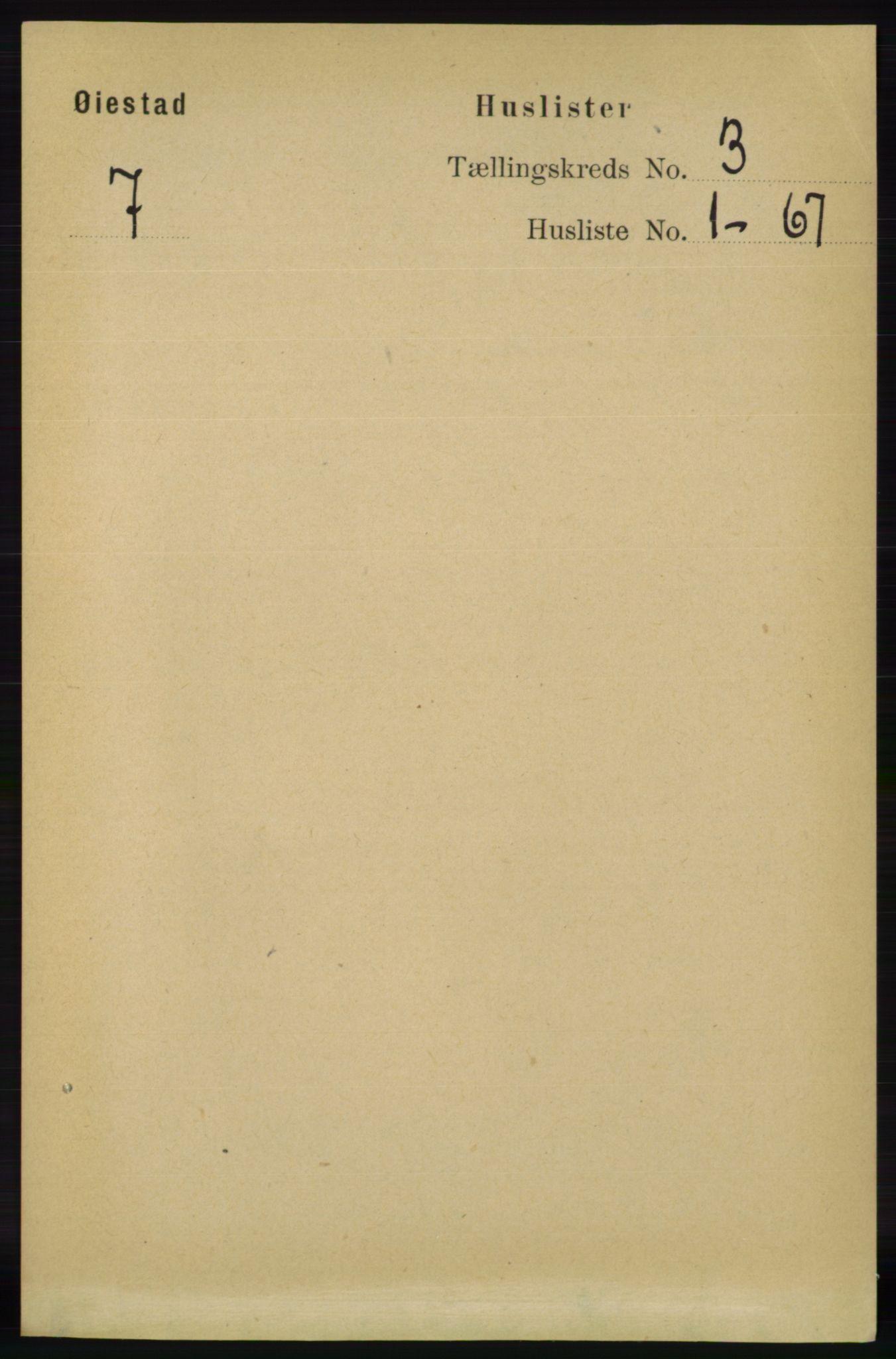RA, Folketelling 1891 for 0920 Øyestad herred, 1891, s. 835