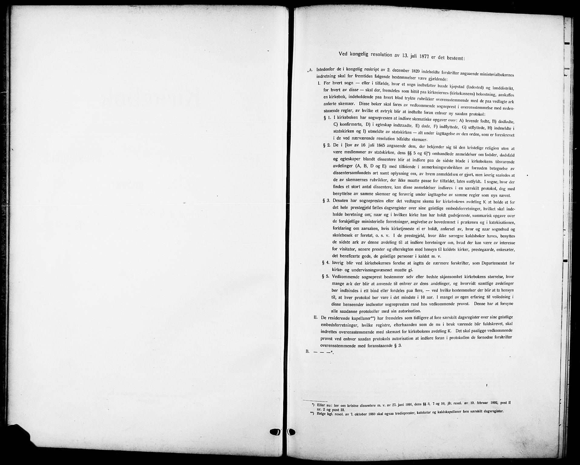 SAKO, Skåtøy kirkebøker, G/Ga/L0005: Klokkerbok nr. I 5, 1915-1925