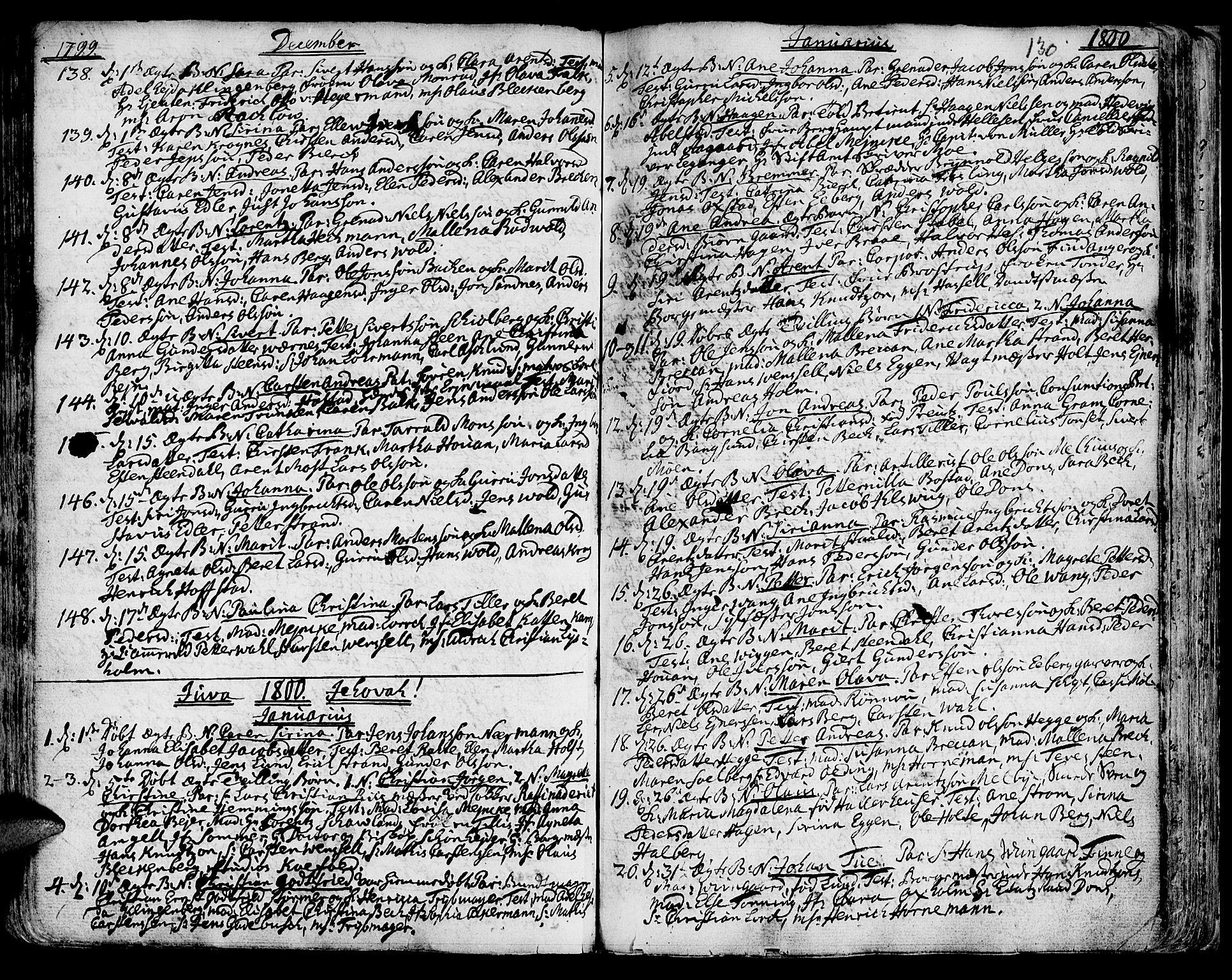 SAT, Ministerialprotokoller, klokkerbøker og fødselsregistre - Sør-Trøndelag, 601/L0039: Ministerialbok nr. 601A07, 1770-1819, s. 130