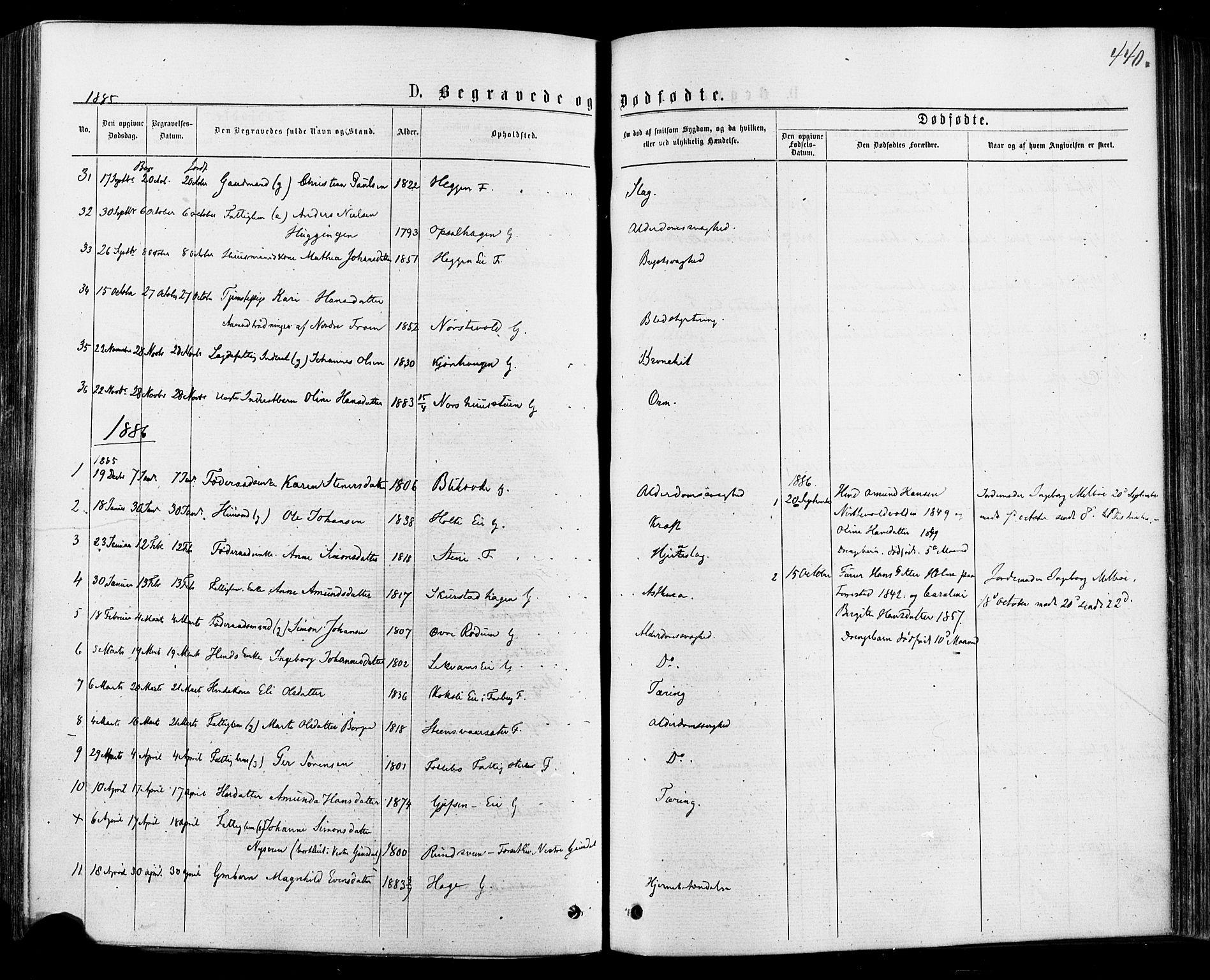 SAH, Østre Gausdal prestekontor, Ministerialbok nr. 1, 1874-1886, s. 440