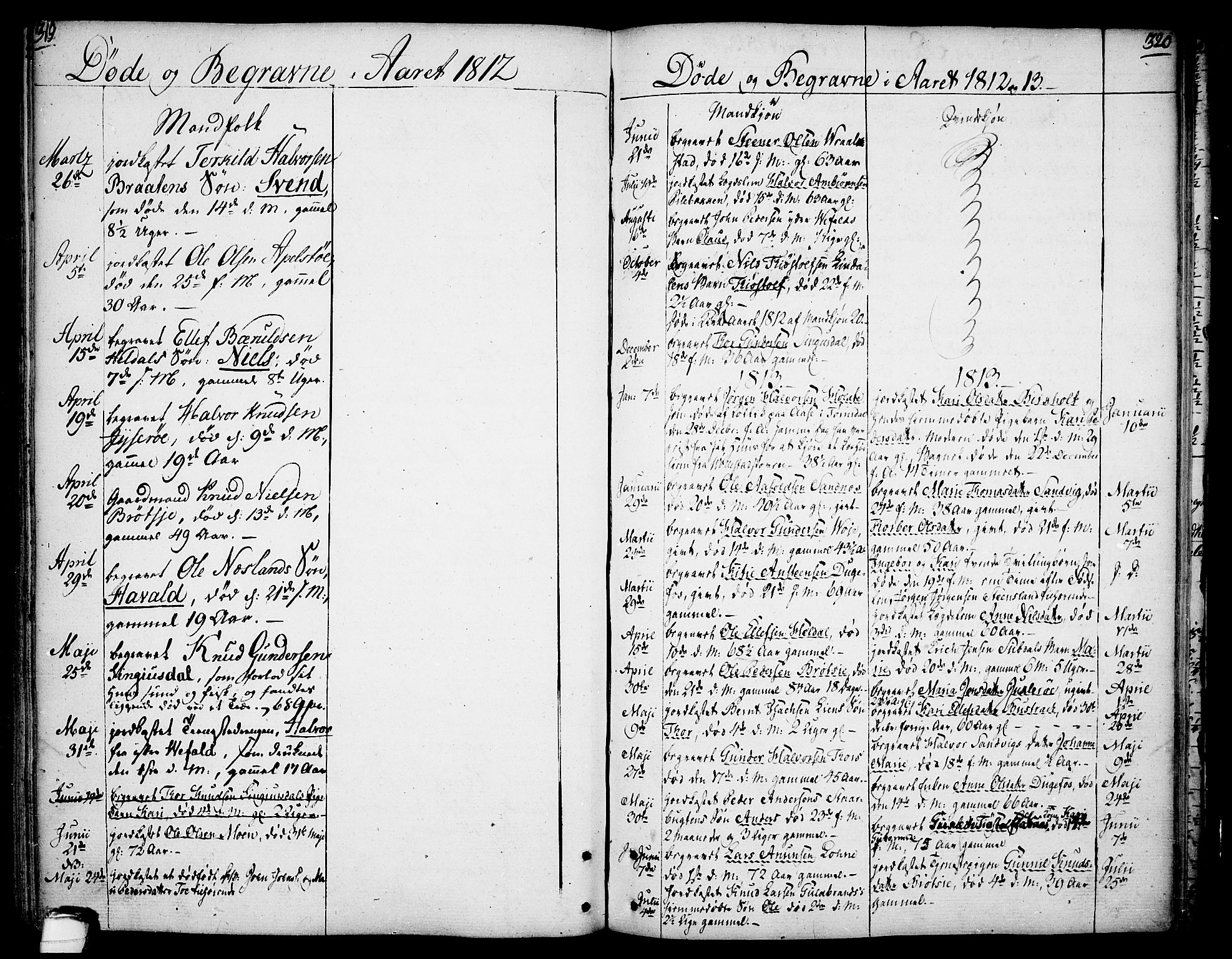 SAKO, Drangedal kirkebøker, F/Fa/L0003: Ministerialbok nr. 3, 1768-1814, s. 319-320
