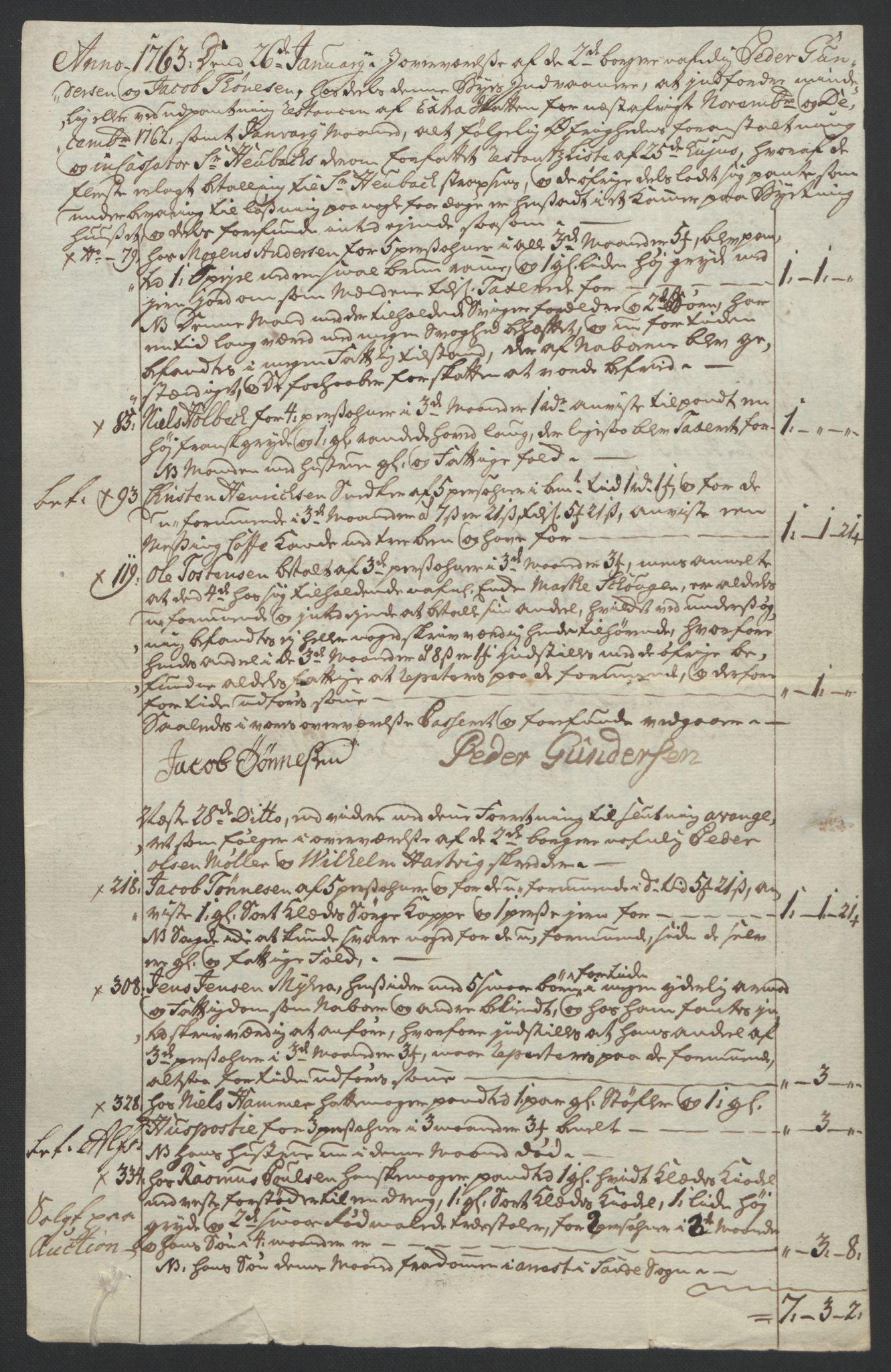 RA, Rentekammeret inntil 1814, Reviderte regnskaper, Byregnskaper, R/Rf/L0119: [F2] Kontribusjonsregnskap, 1762-1767, s. 134
