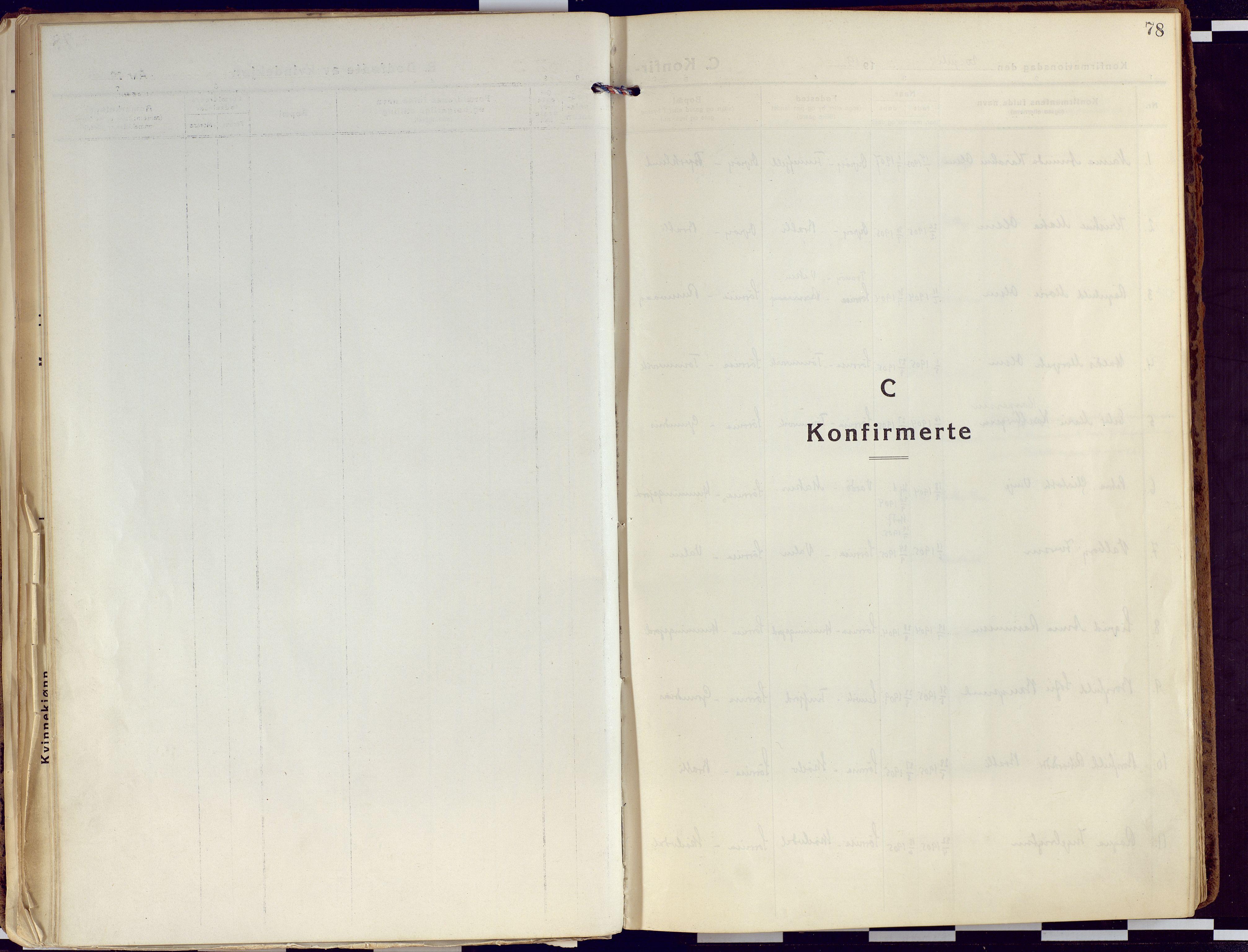 SATØ, Tranøy sokneprestkontor, I/Ia/Iaa/L0015kirke: Ministerialbok nr. 15, 1919-1928, s. 78