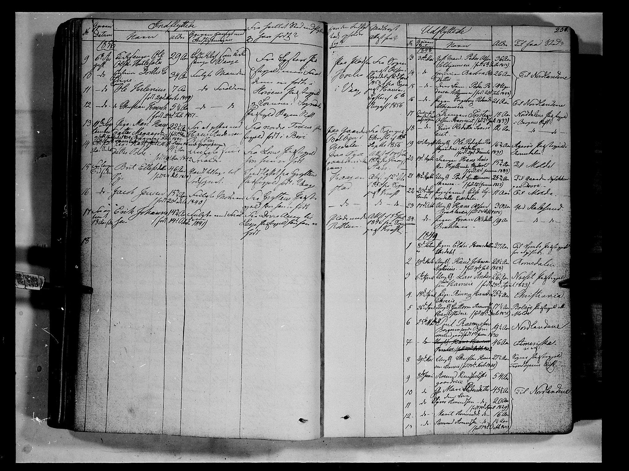 SAH, Vågå prestekontor, Ministerialbok nr. 5 /1, 1842-1856, s. 250