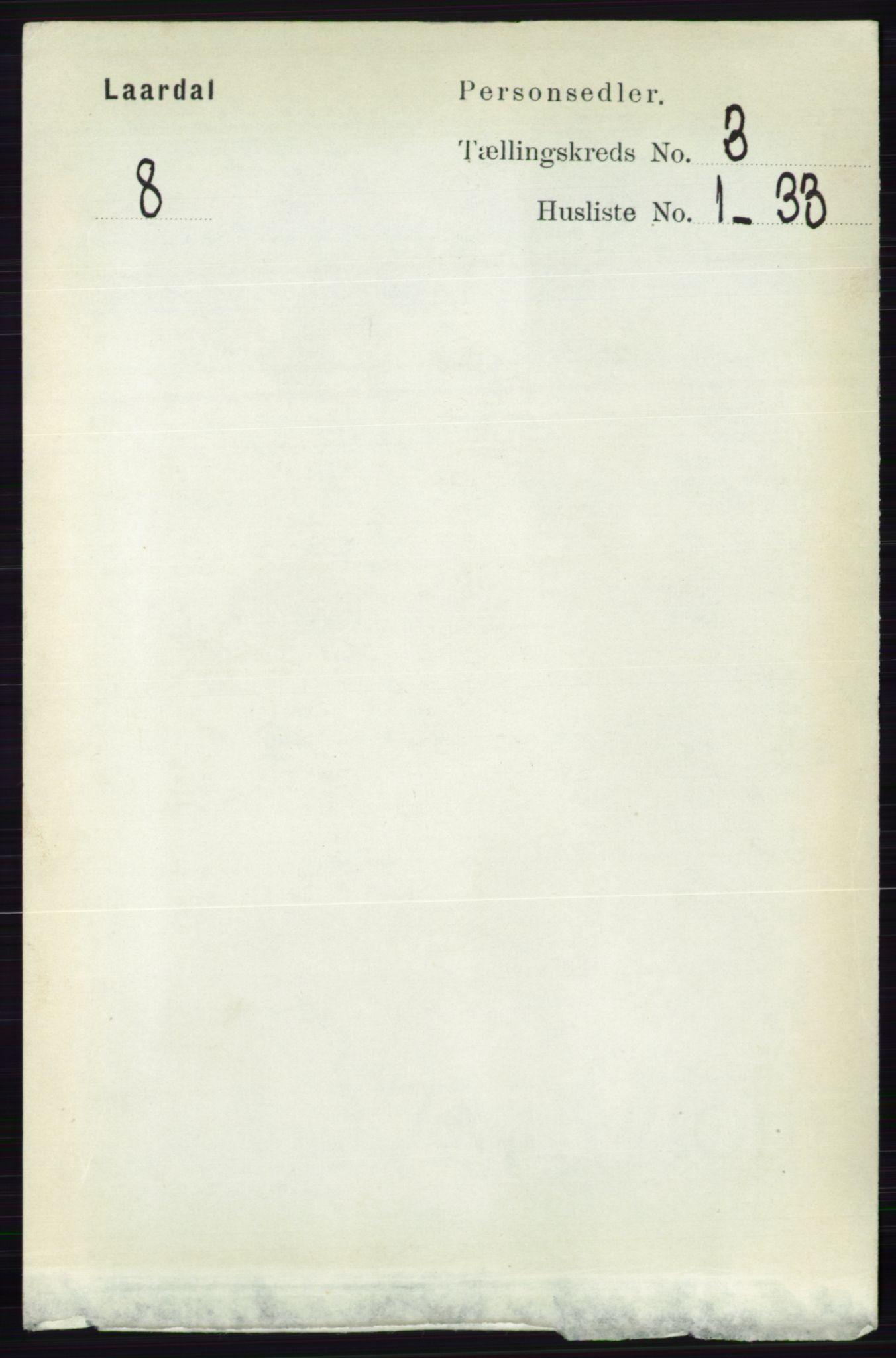 RA, Folketelling 1891 for 0833 Lårdal herred, 1891, s. 797